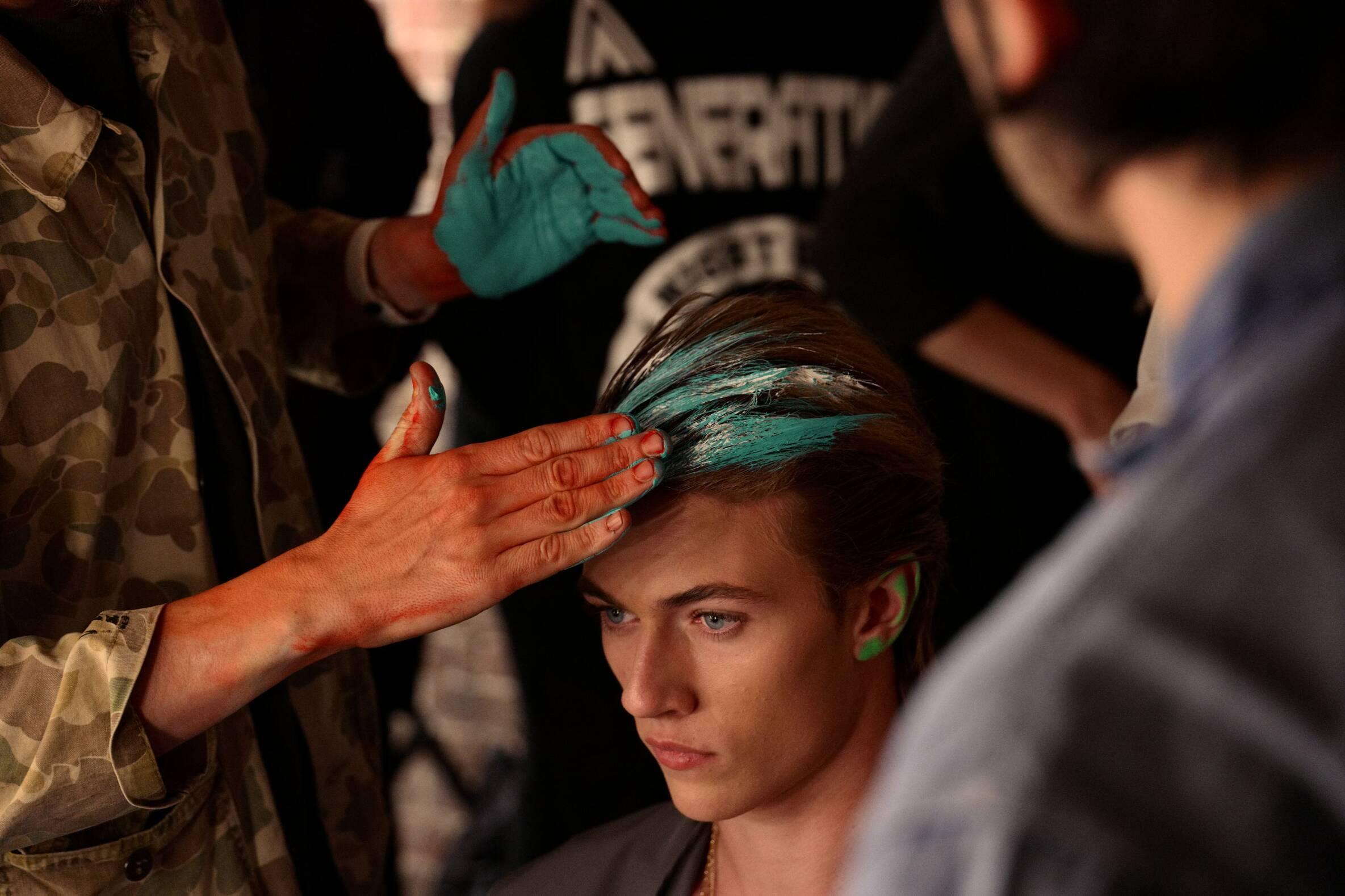 Hairstyle Model Moschino Backstage