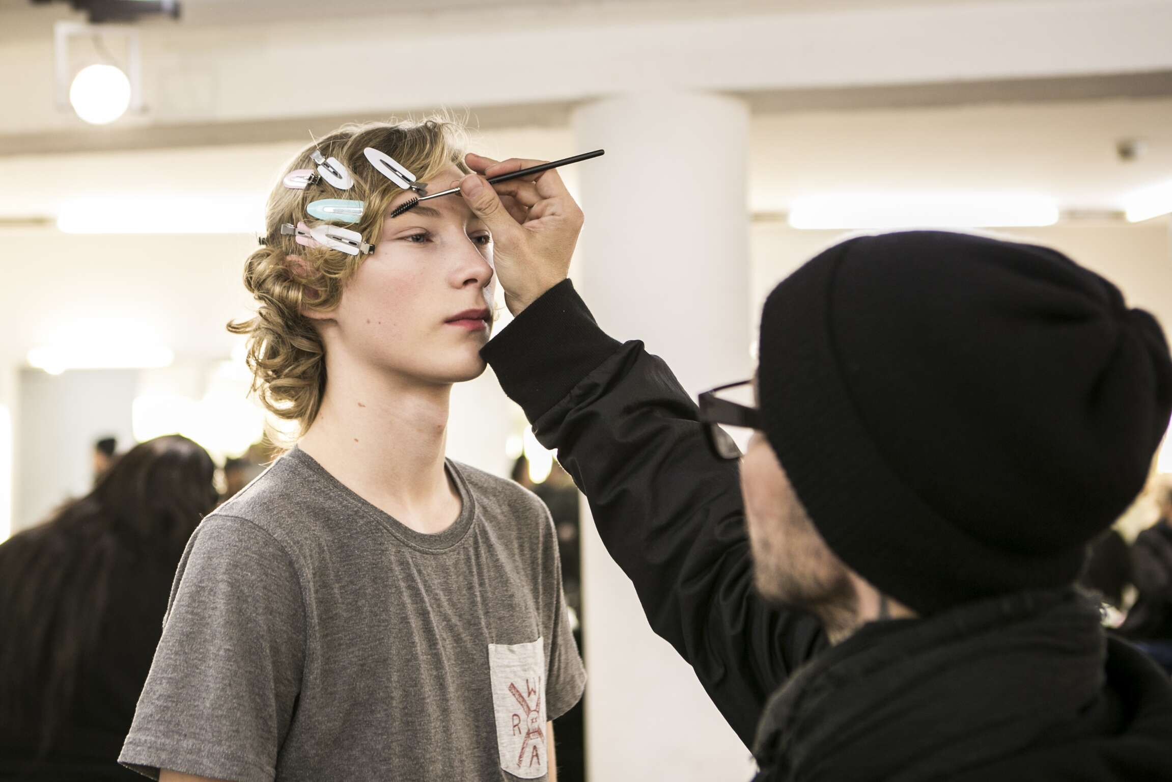 Make Up Backstage Ermenegildo Zegna Couture FW 2016