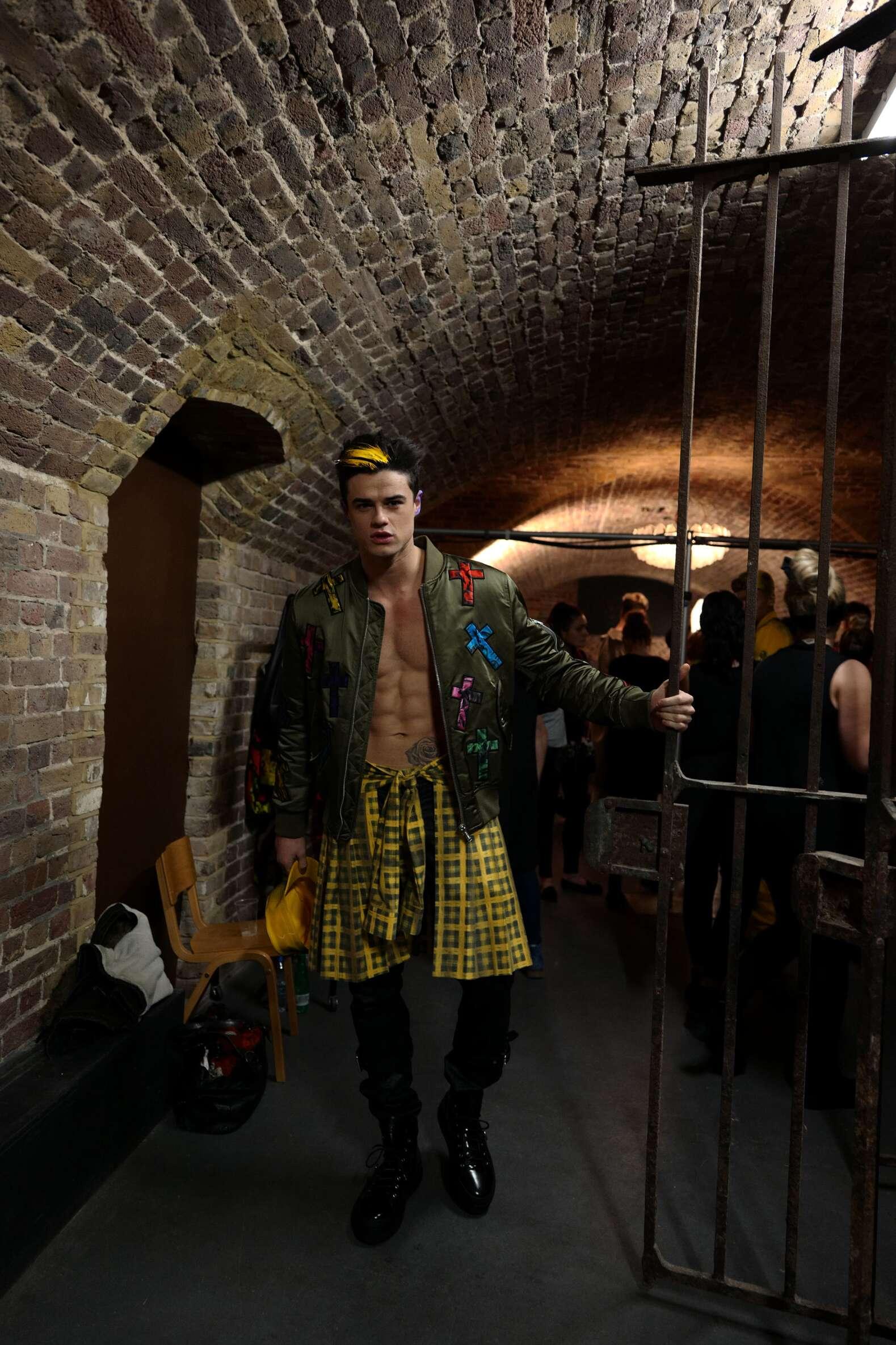 Menswear Backstage Moschino Model