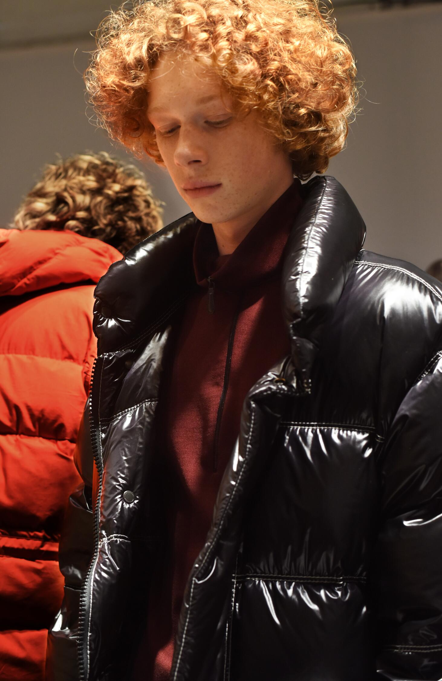 Model Backstage Burberry