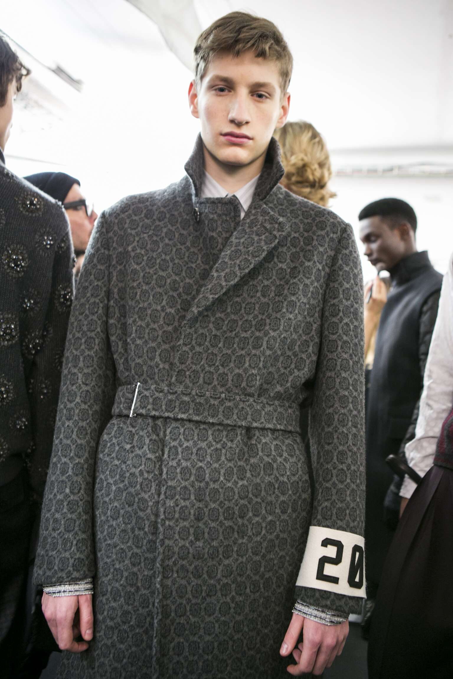 Model Ermenegildo Zegna Couture Backstage Menswear