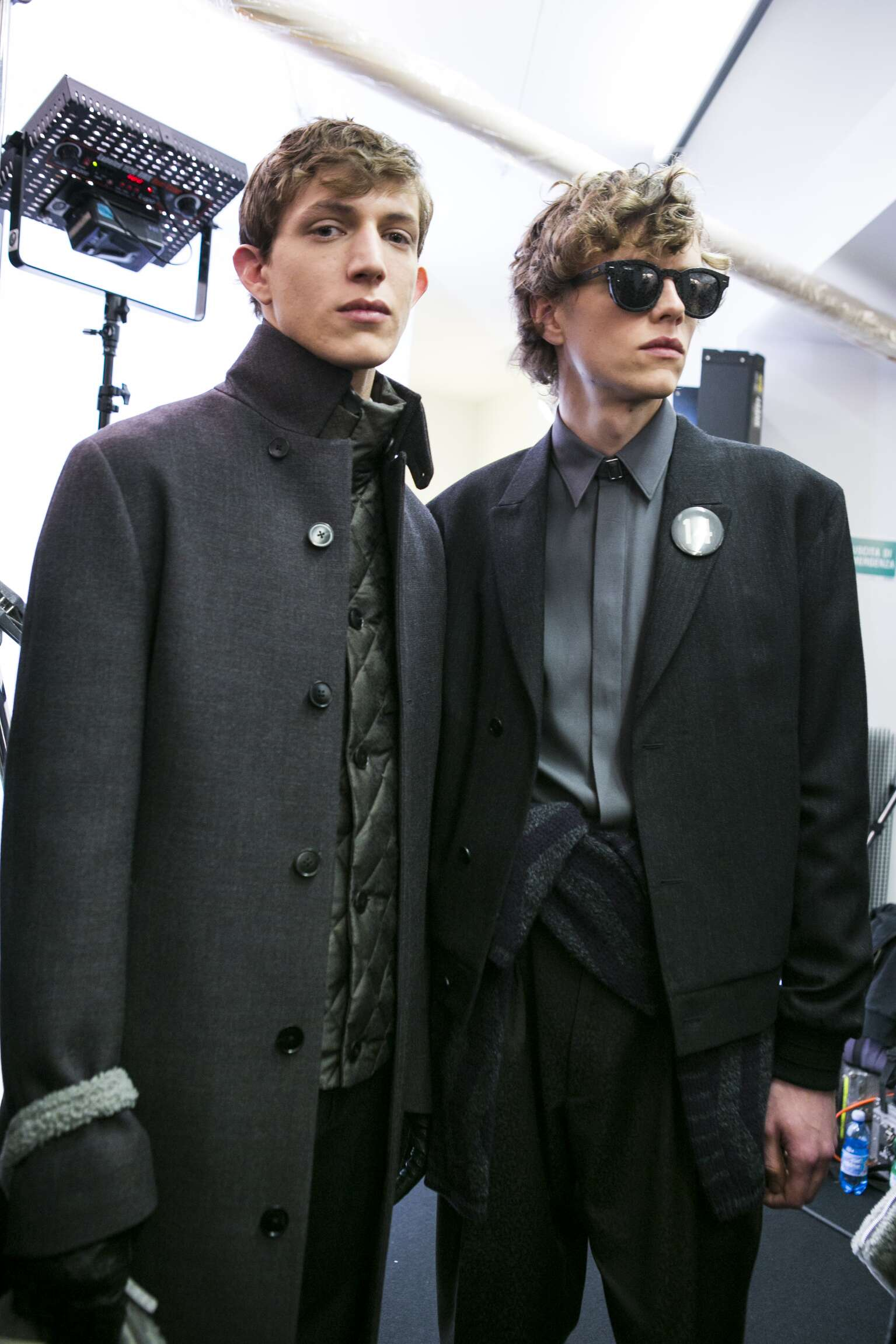 Models Ermenegildo Zegna Couture Backstage Fall 16 17