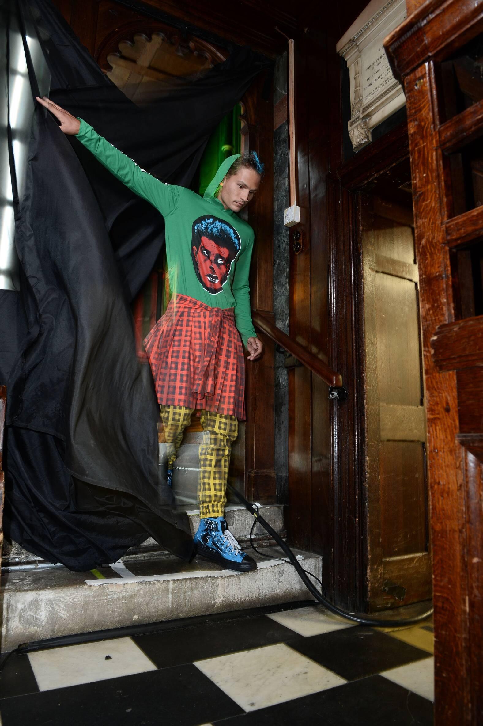Moschino Backstage Fashion Model Menswear