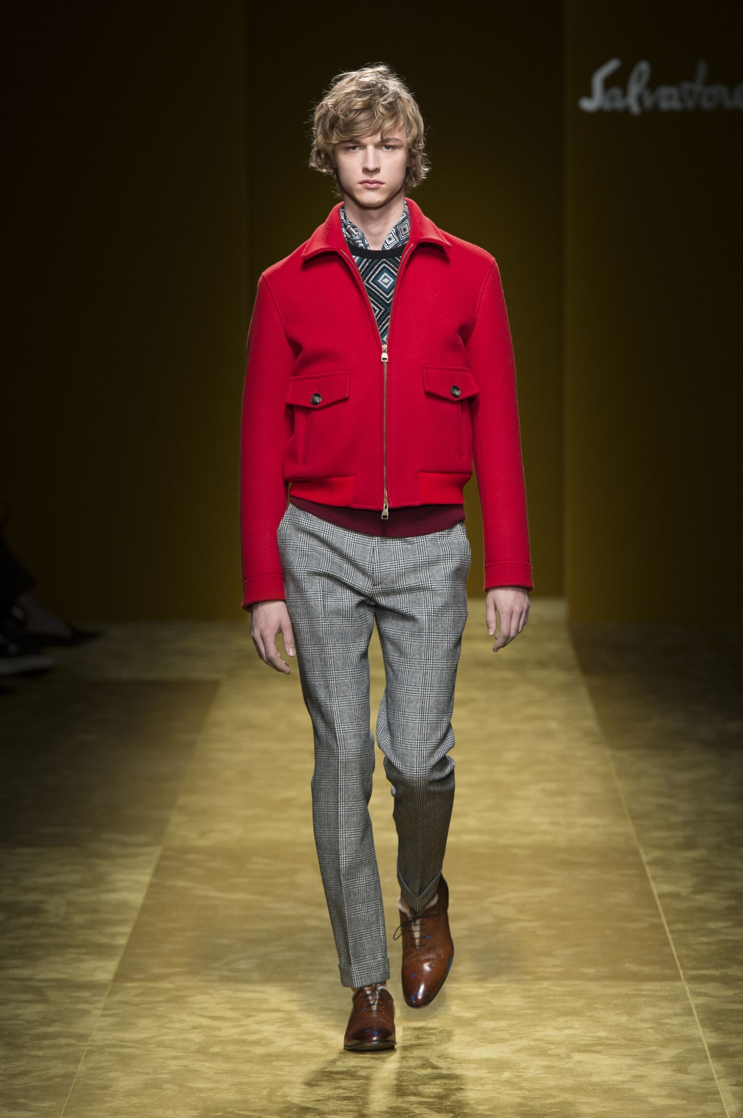 2016 Catwalk Salvatore Ferragamo Man Fashion Show Winter