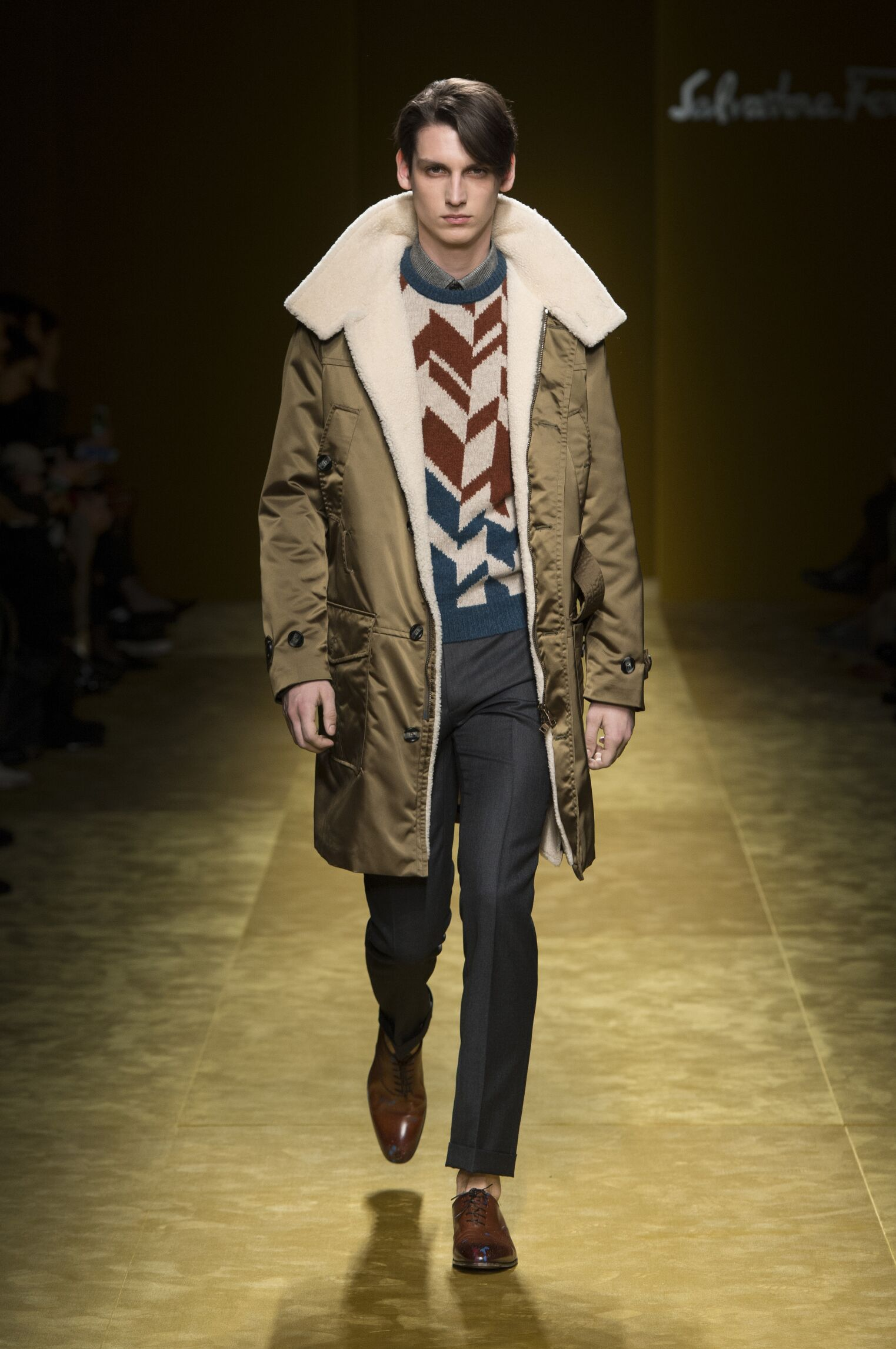 Catwalk Salvatore Ferragamo Man Fashion Show Winter 2016