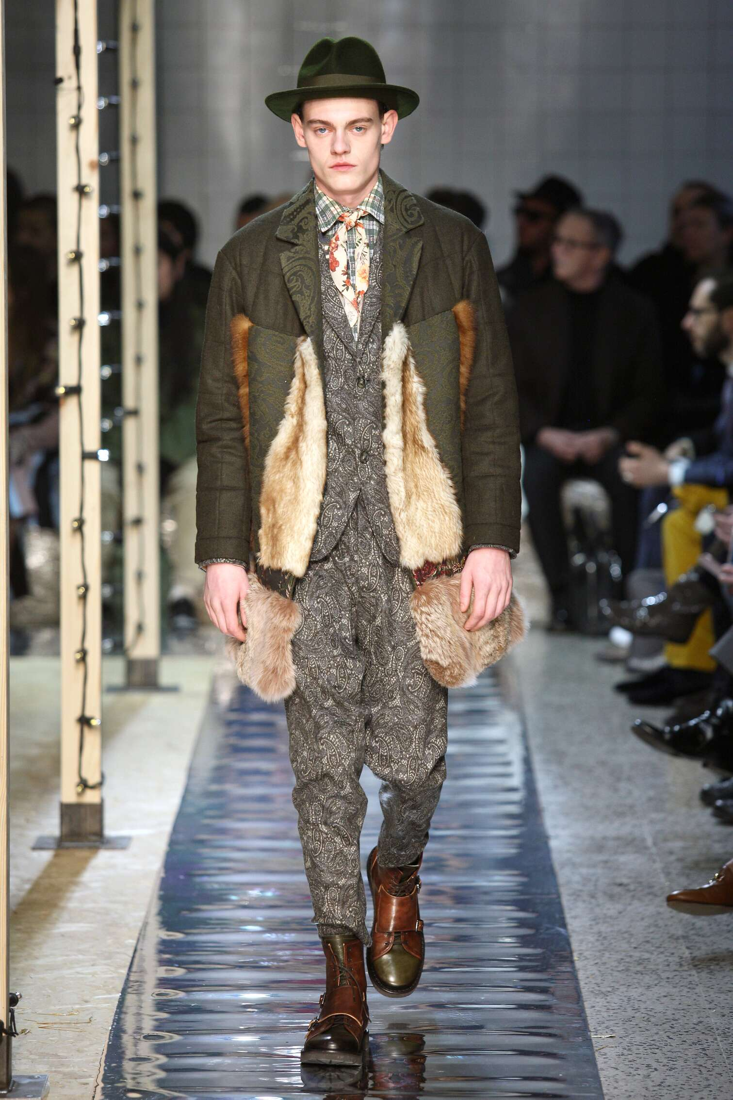 Fashion Man Model Antonio Marras Catwalk