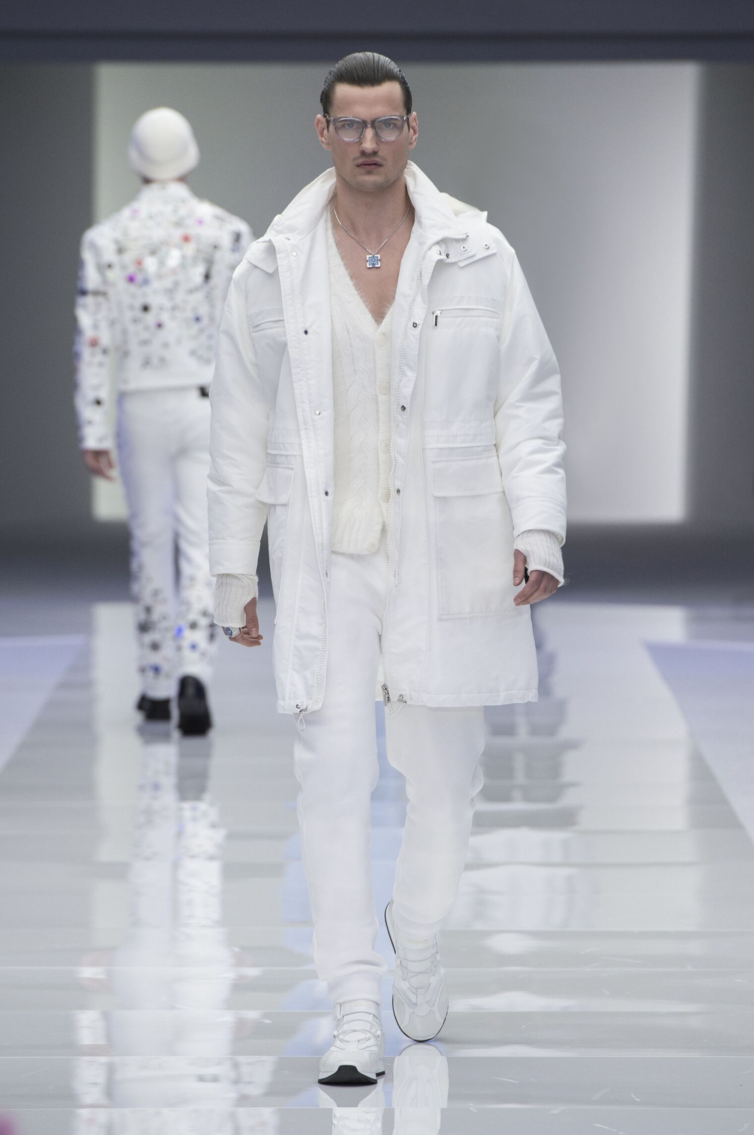 Fashion Man Model Versace Catwalk