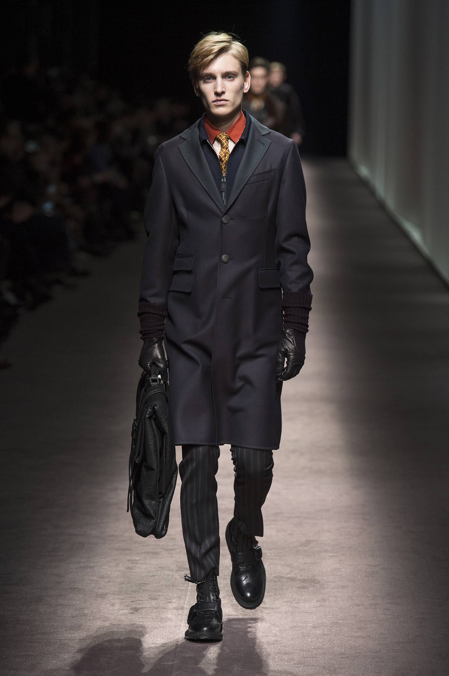 Fashion Model Canali Catwalk