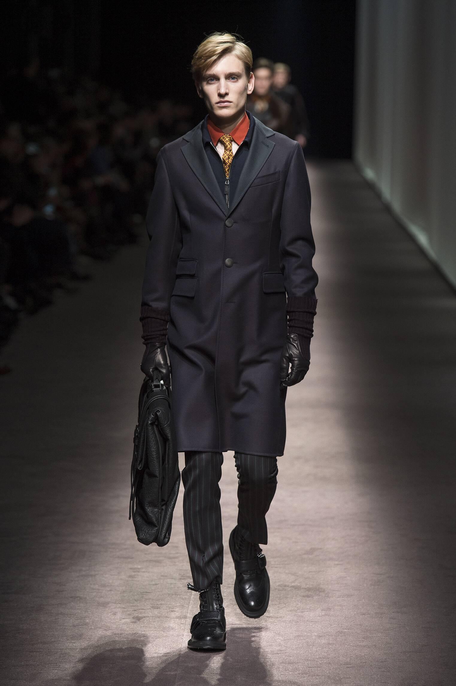 Fashion Model Canali Catwalk