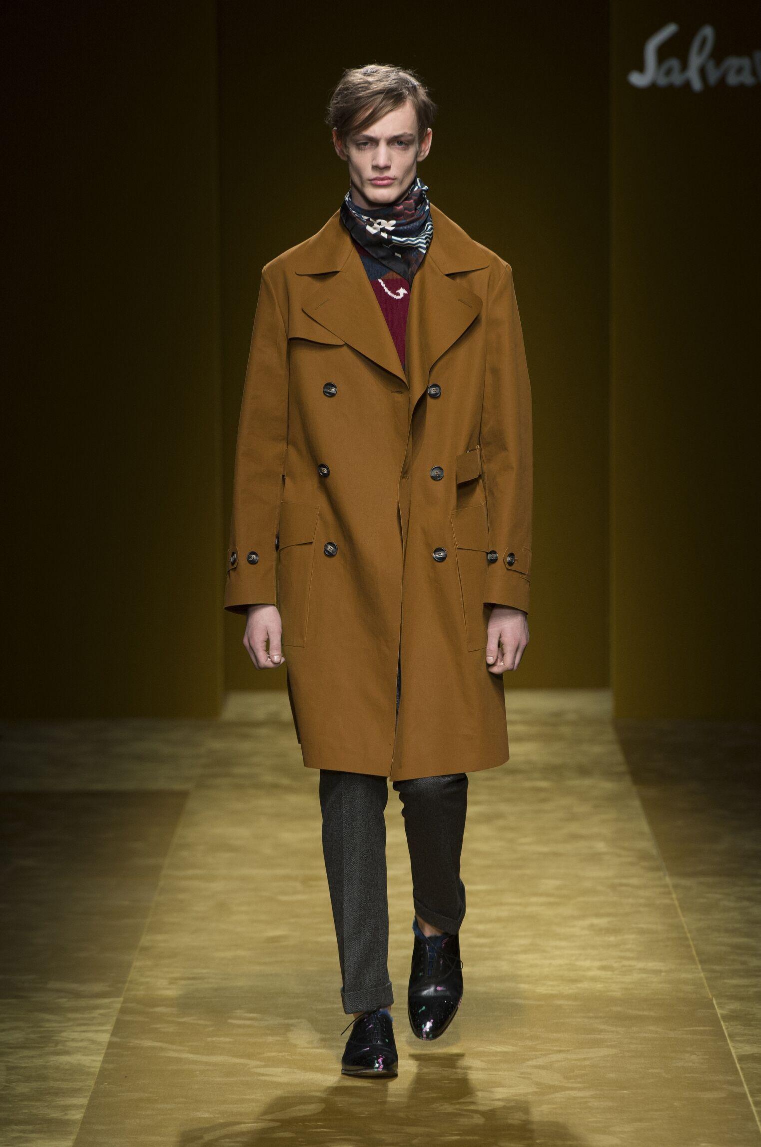 Fashion Model Salvatore Ferragamo Catwalk