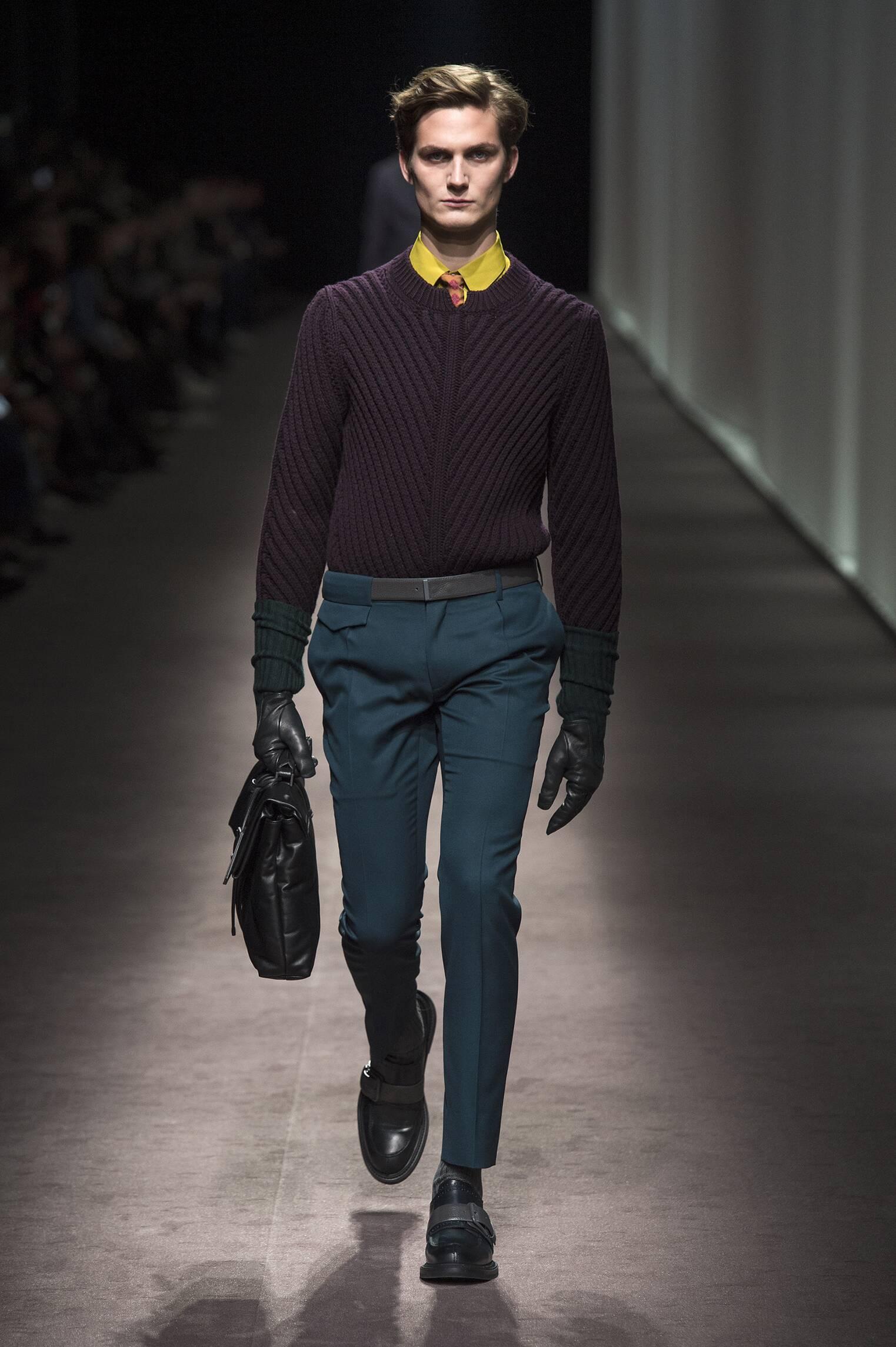 Runway Canali Fall Winter 2016 Men's Collection Milan Fashion Week