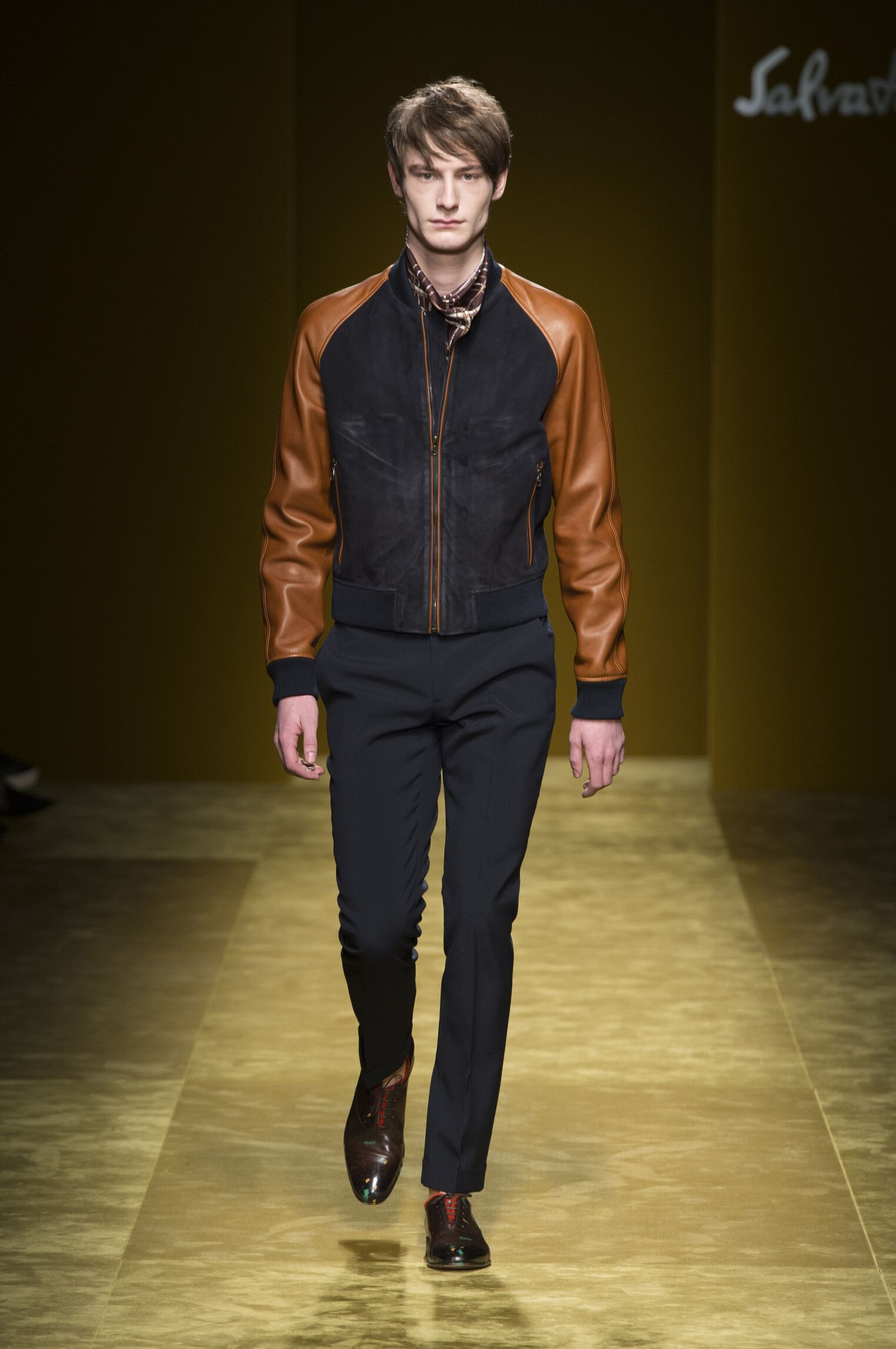 Runway Salvatore Ferragamo Fall Winter 2016 Men's Collection Milan Fashion Week