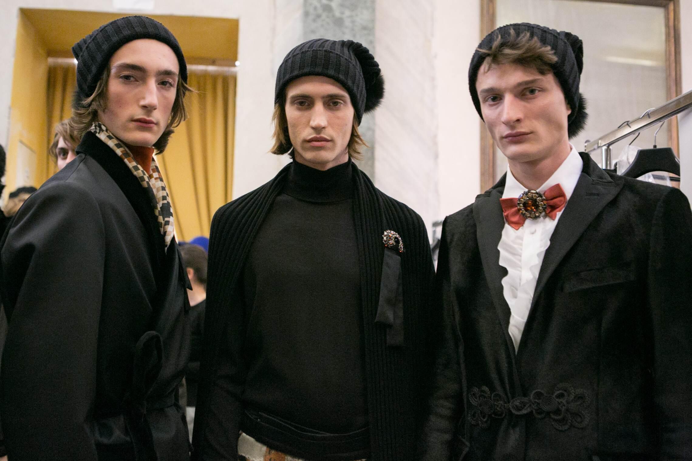 Backstage Daks Fashion Models