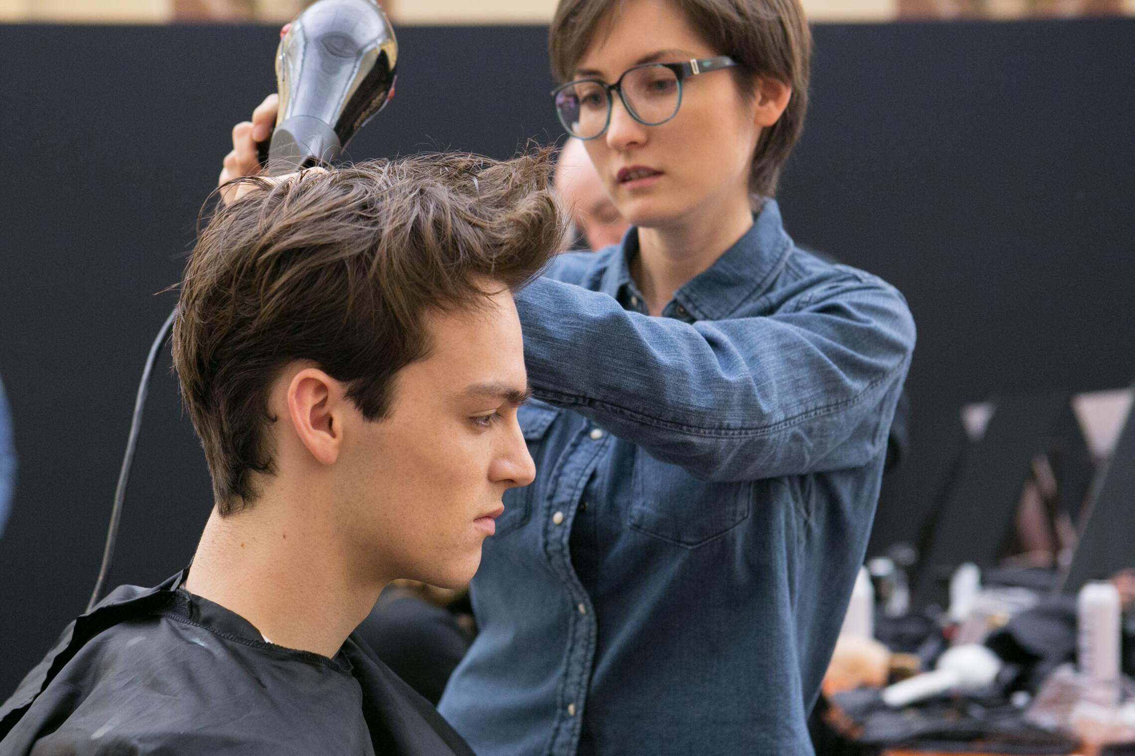 Backstage Daks Fashion Show Hair Style