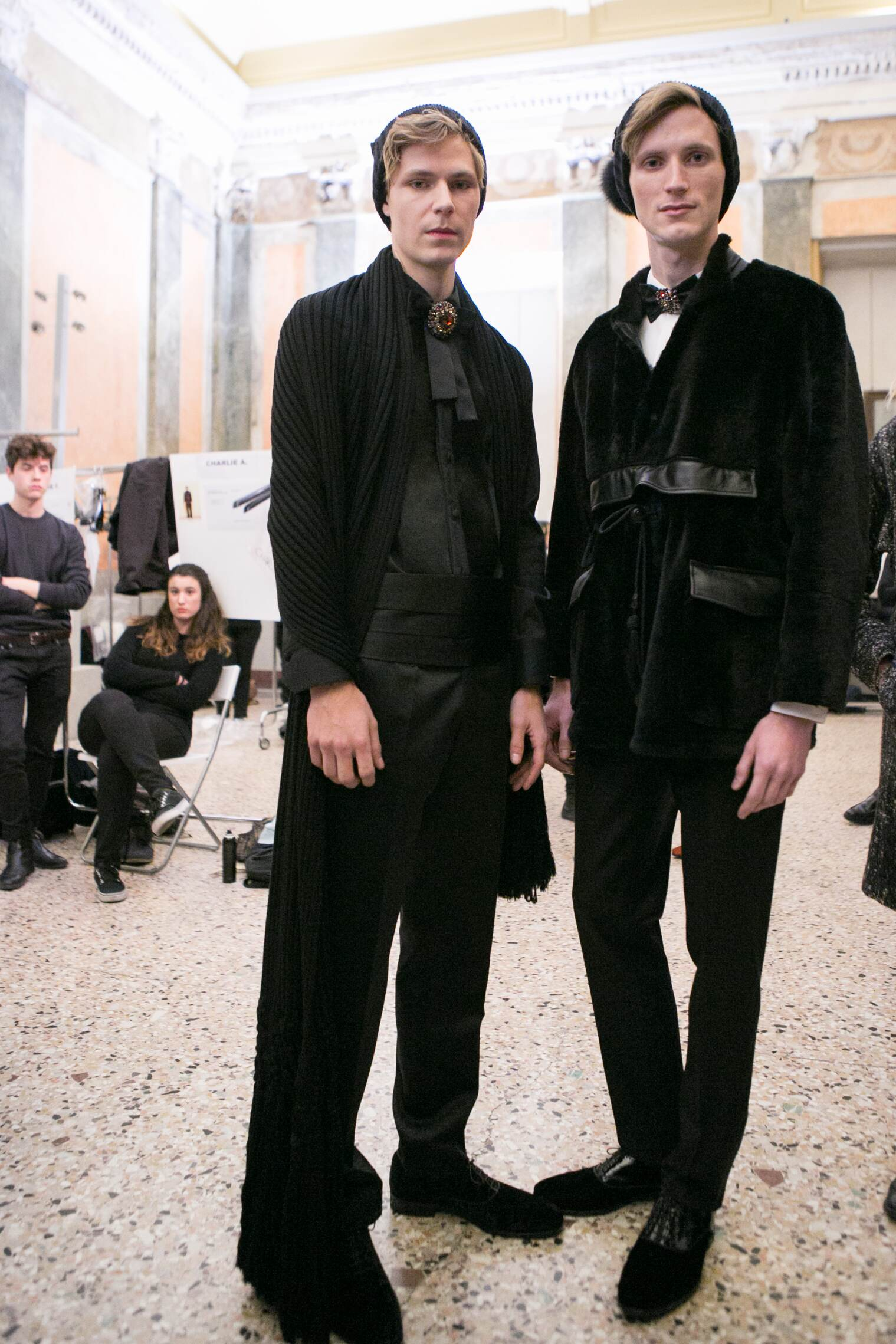 Backstage Daks Fashion Show Models