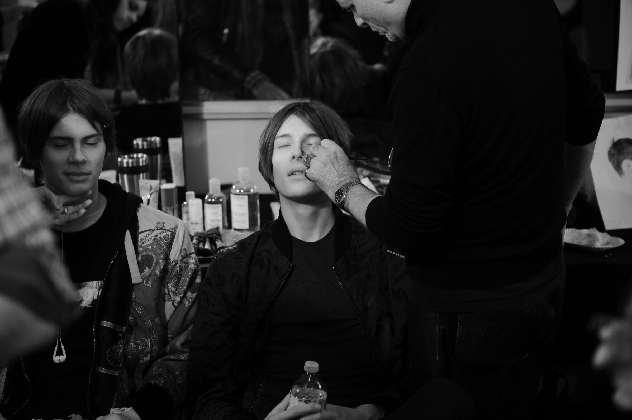 Backstage Diesel Black Gold Fashion Show Make Up