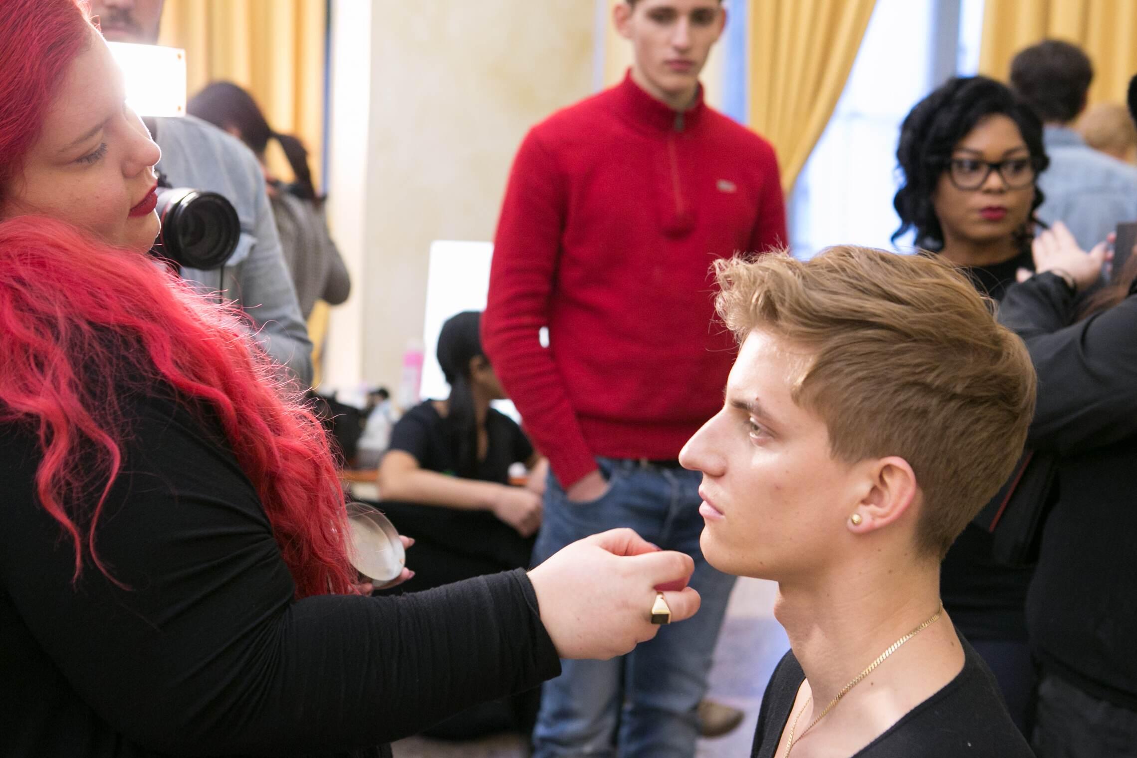 Daks Backstage Model Make Up