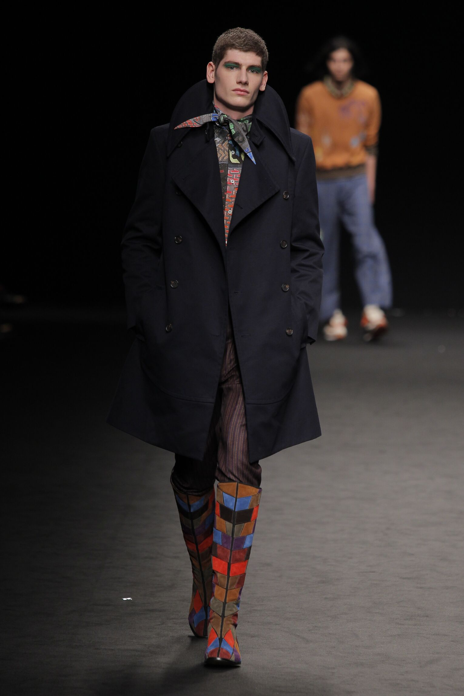 Fashion Man Model Vivienne Westwood Catwalk