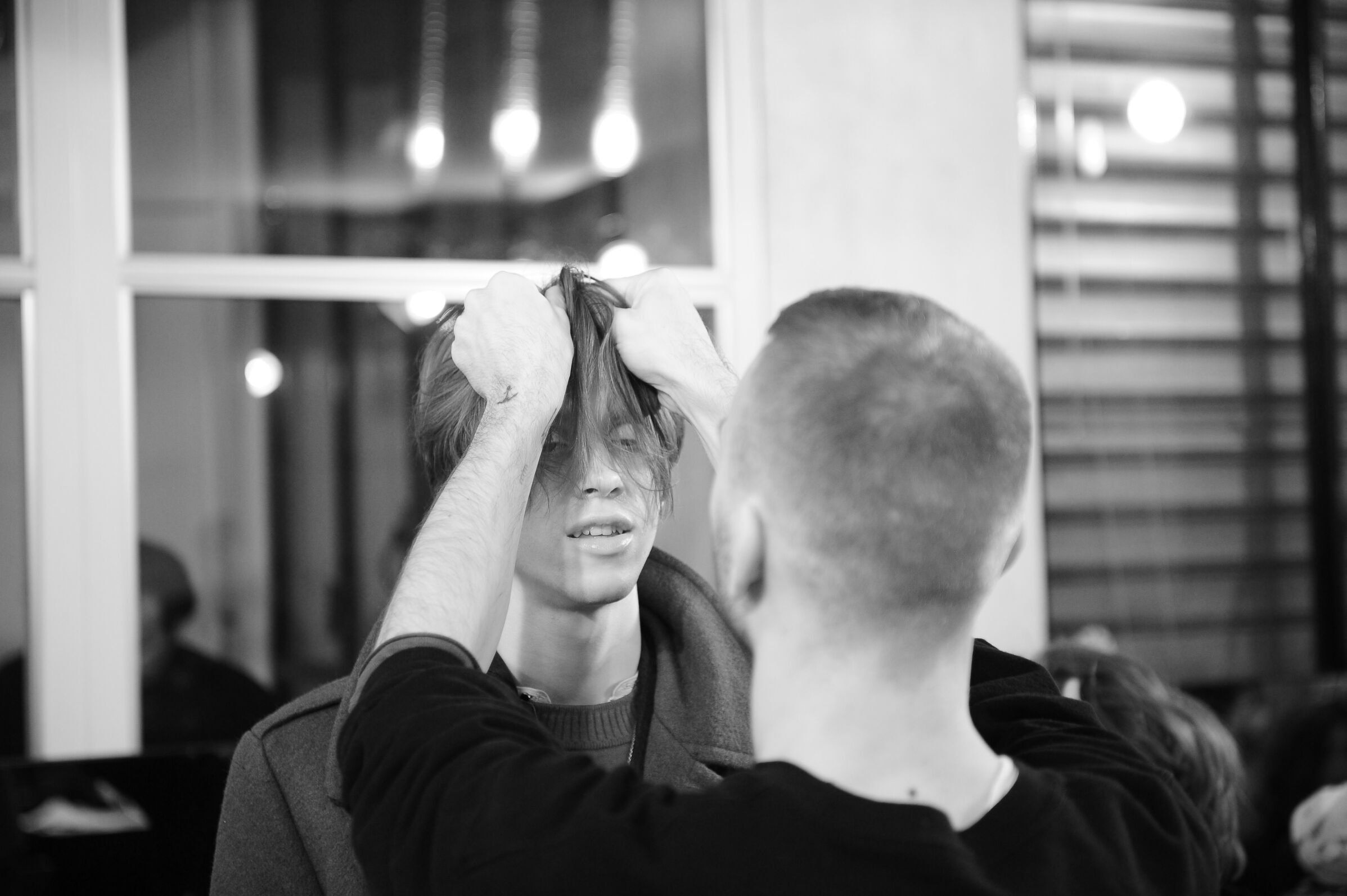 Hair Stylist Diesel Black Gold Backstage Fashion Model Milan