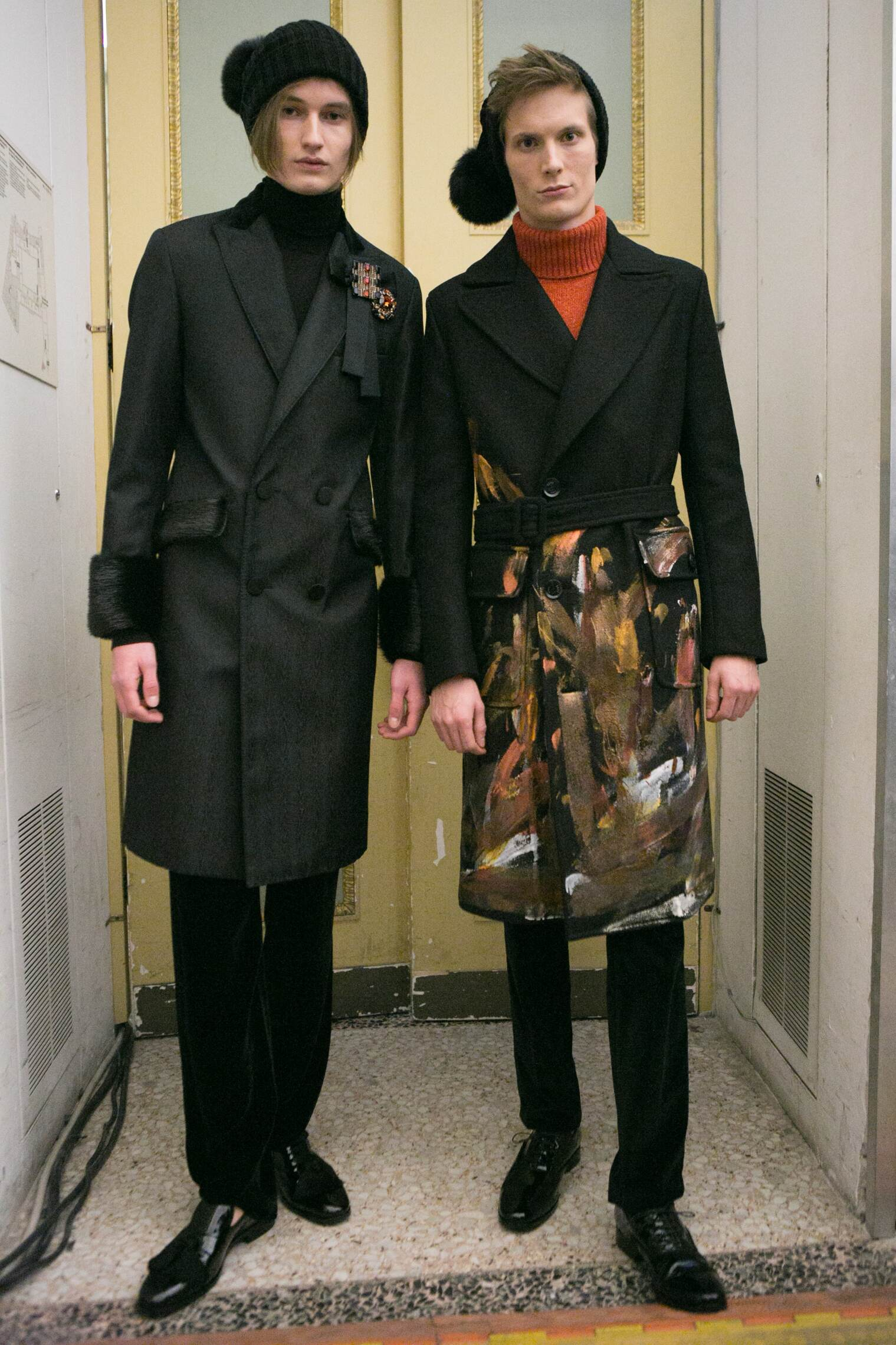 Men Models Daks Backstage