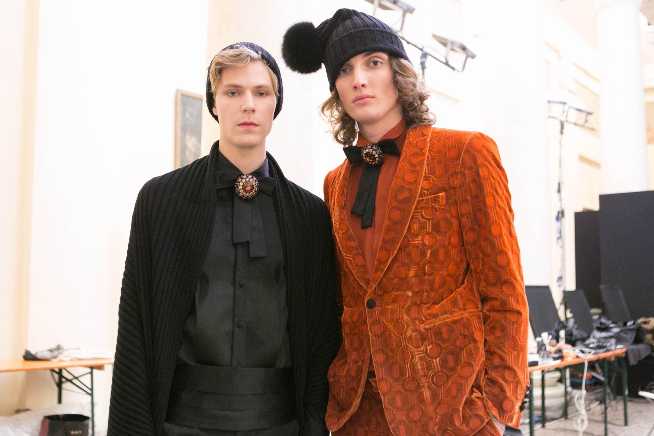 Menswear Models Backstage Daks Milan
