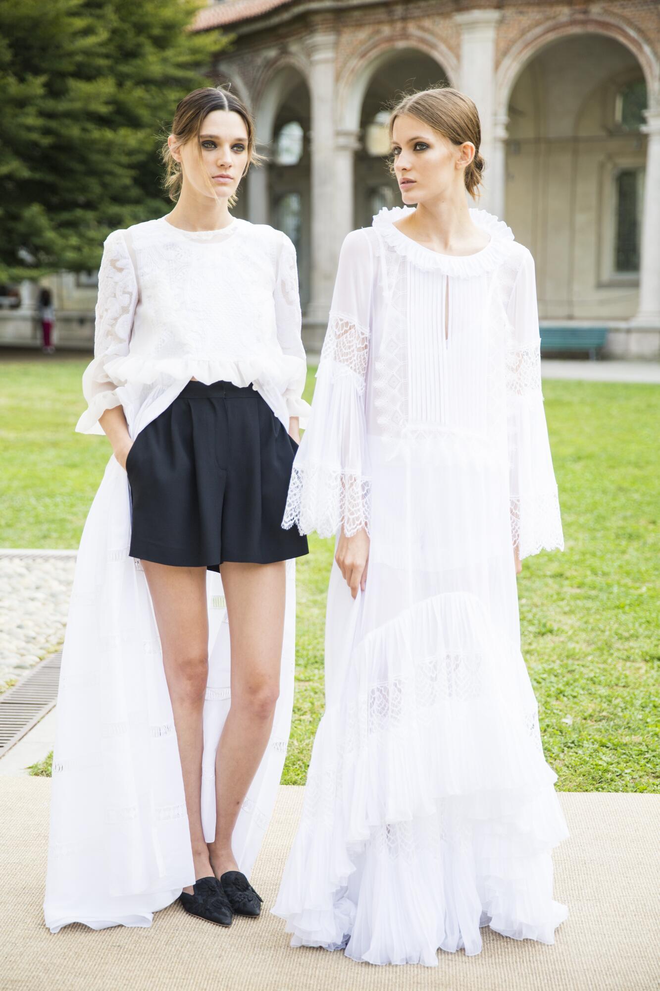 Alberta Ferretti Backstage Fashion Models Womenswear