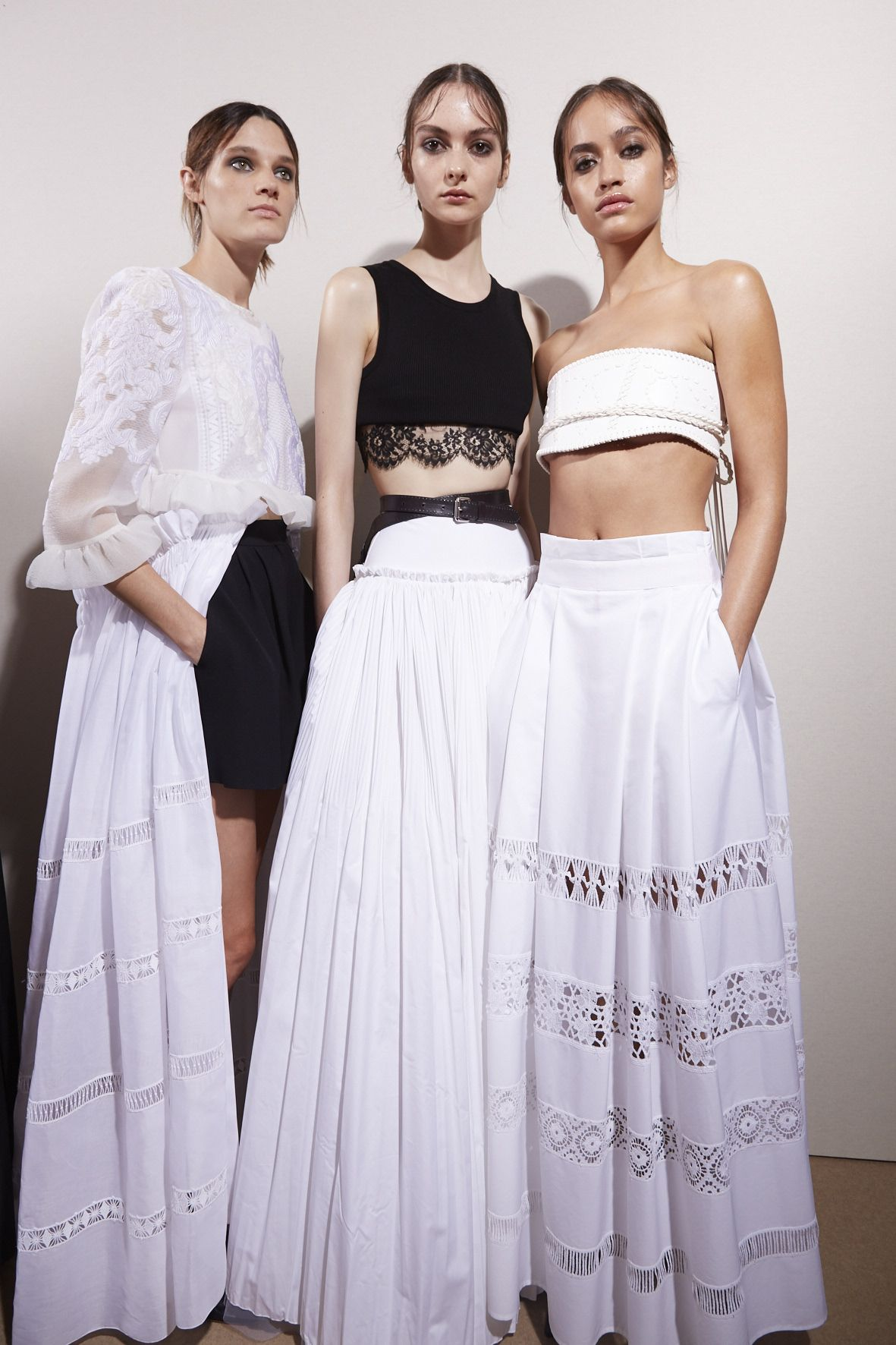 Alberta Ferretti Backstage Models
