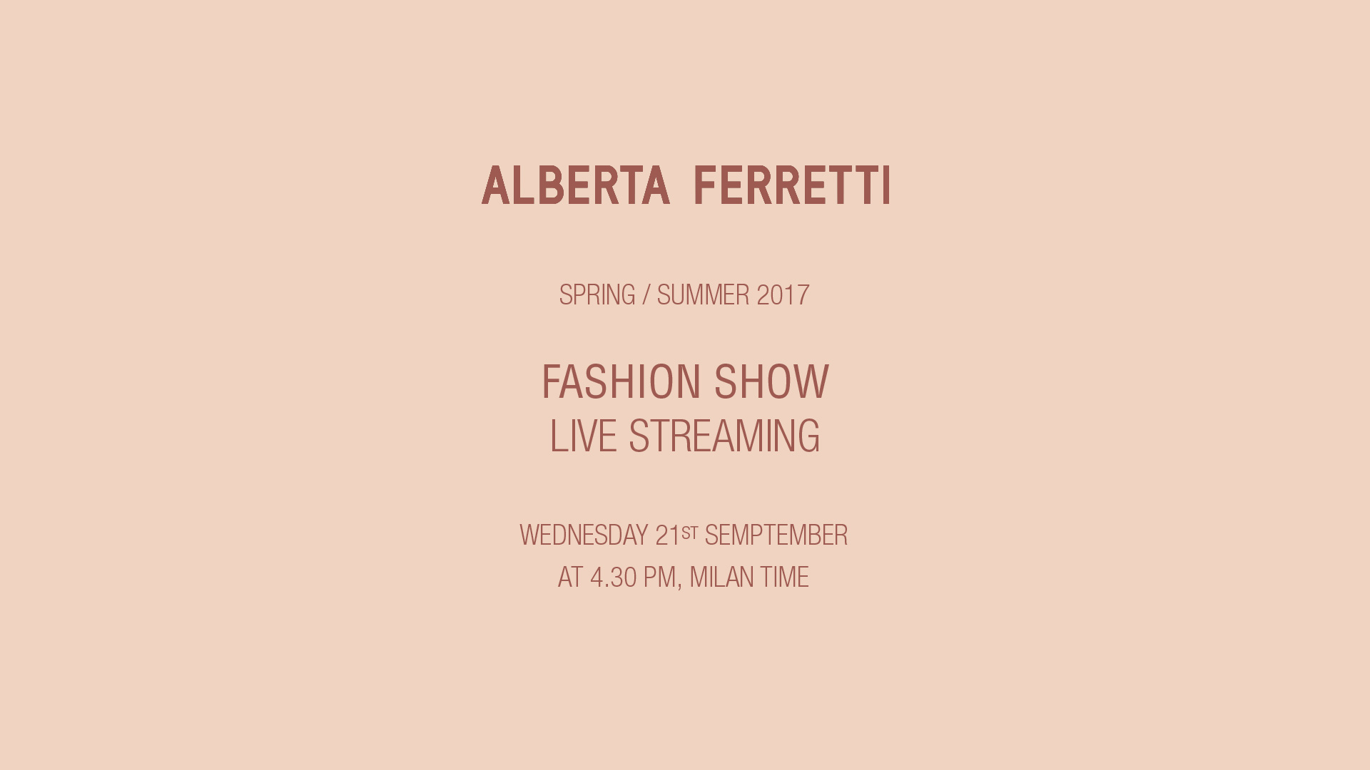 Alberta Ferretti Spring Summer 2017 Women's Fashion Show Live Streaming Milan