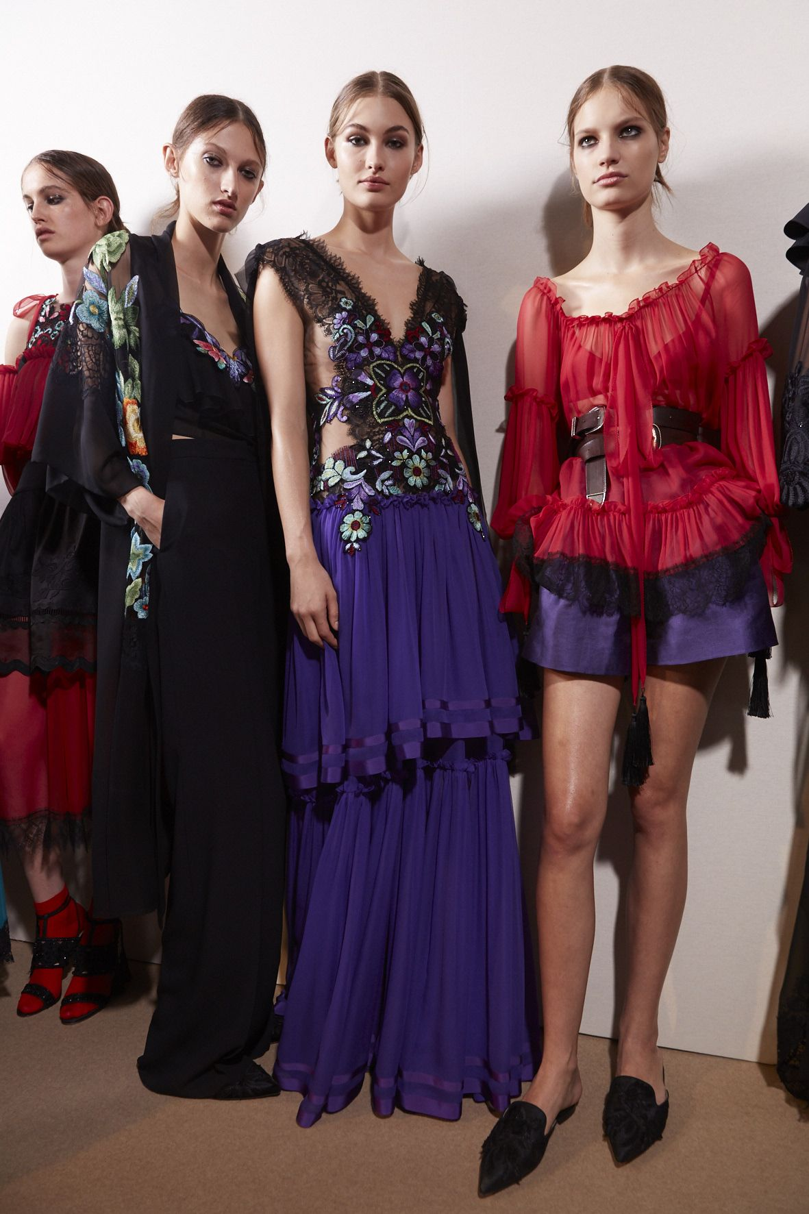 Backstage Alberta Ferretti Fashion Show
