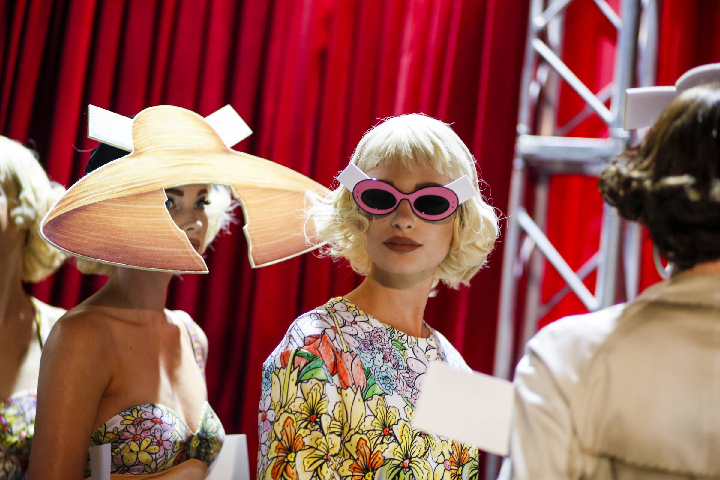 Backstage Moschino Fashion Model