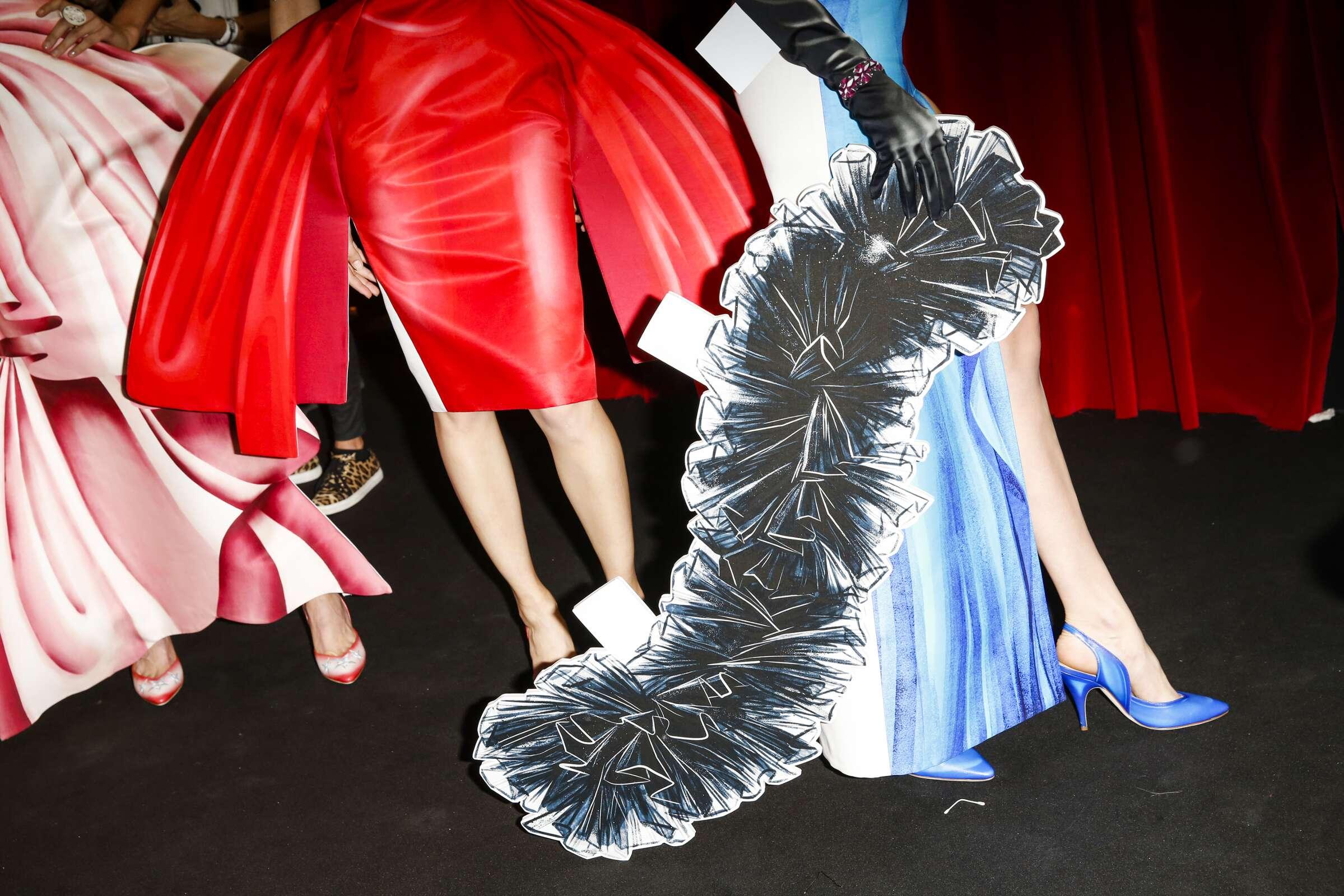 Backstage Moschino Fashion Show Details