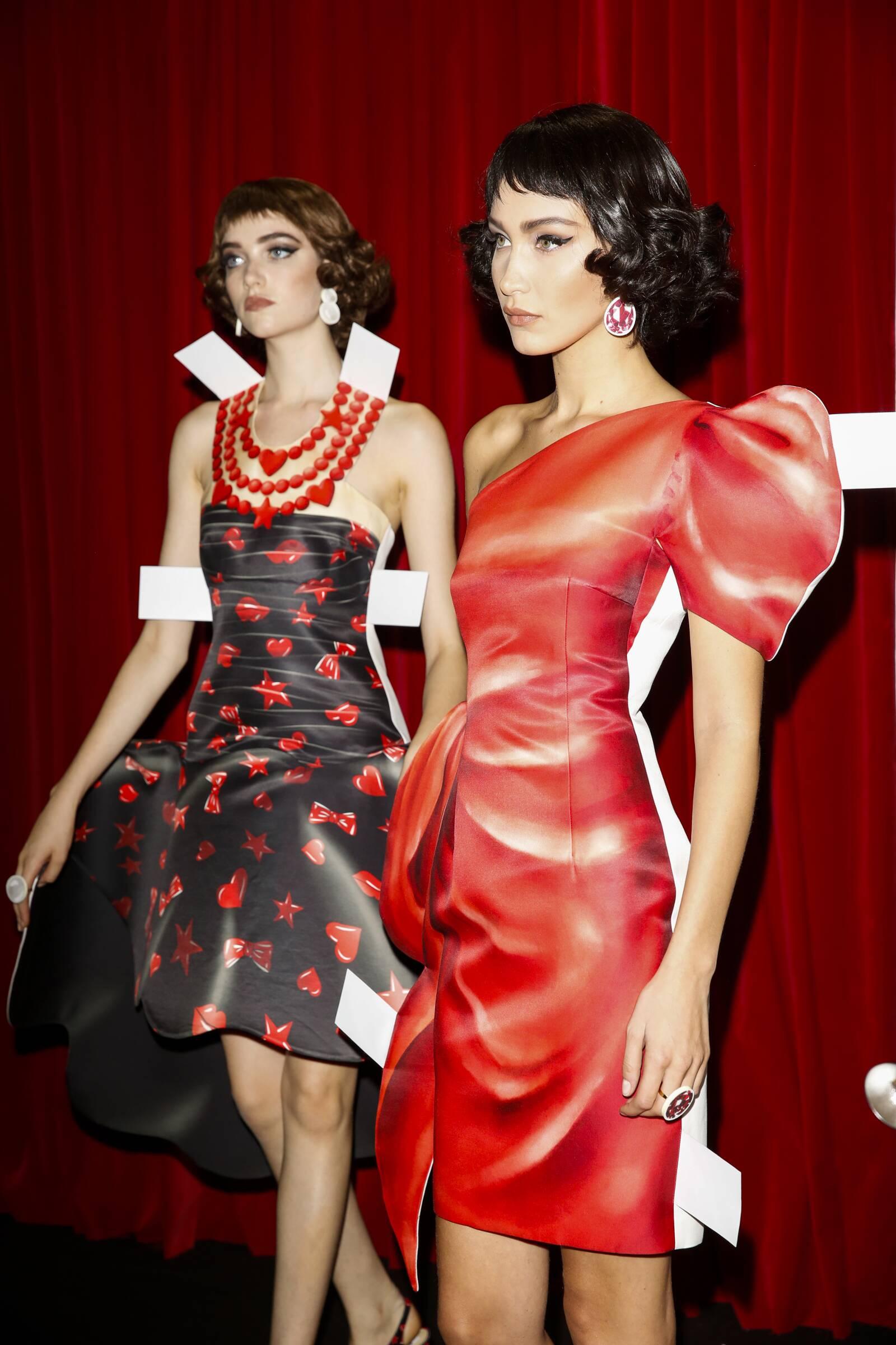 Backstage Moschino Fashion Show Milan Fashion Week