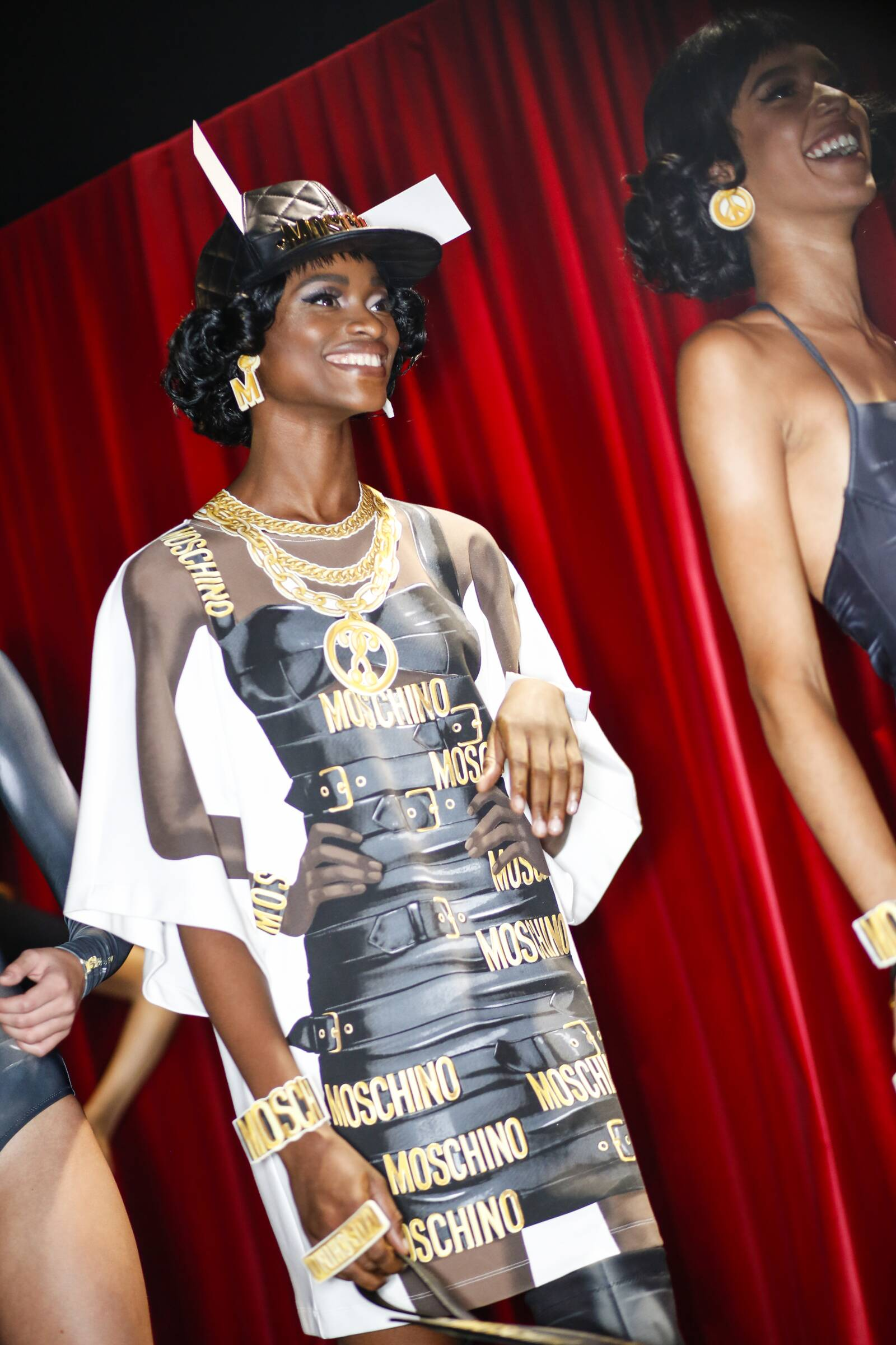 Backstage Moschino Fashion Show Woman Model Milan Fashion Week