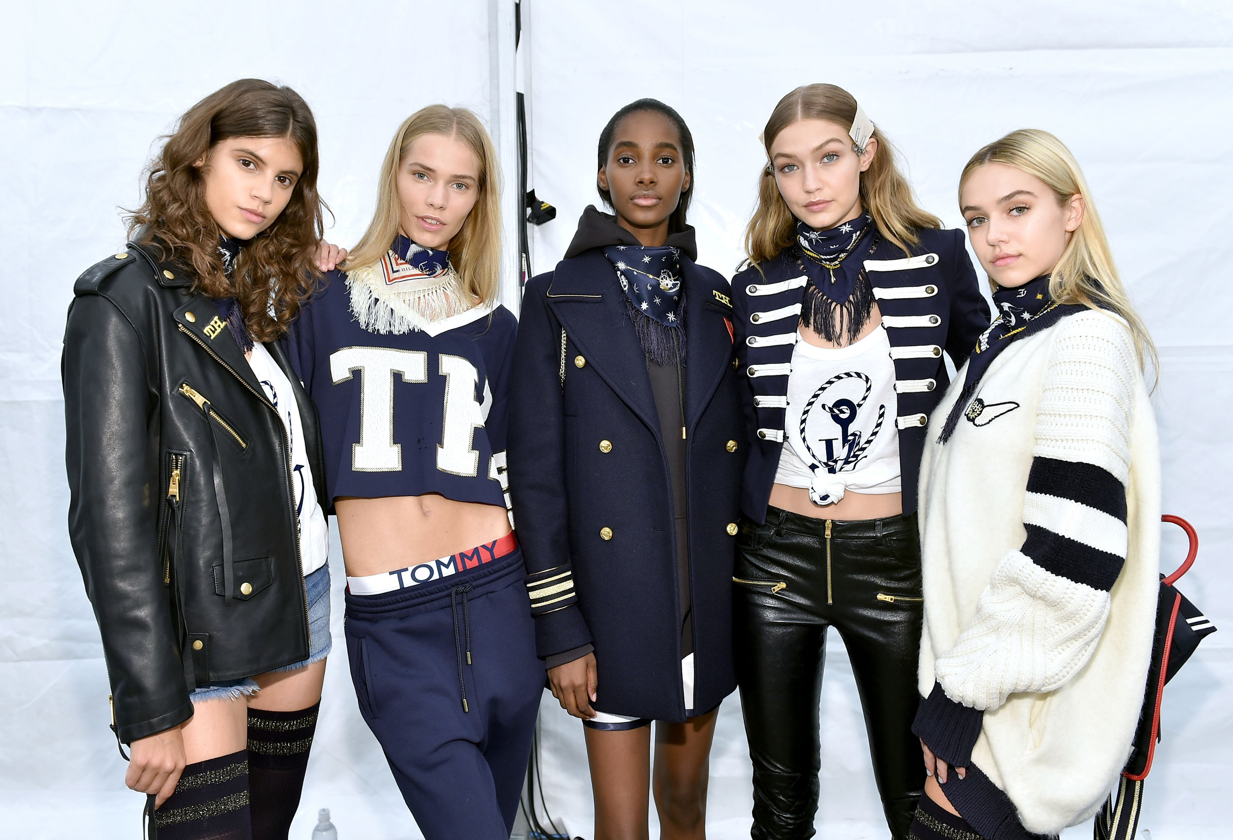 Backstage Tommy Hilfiger Fashion Models