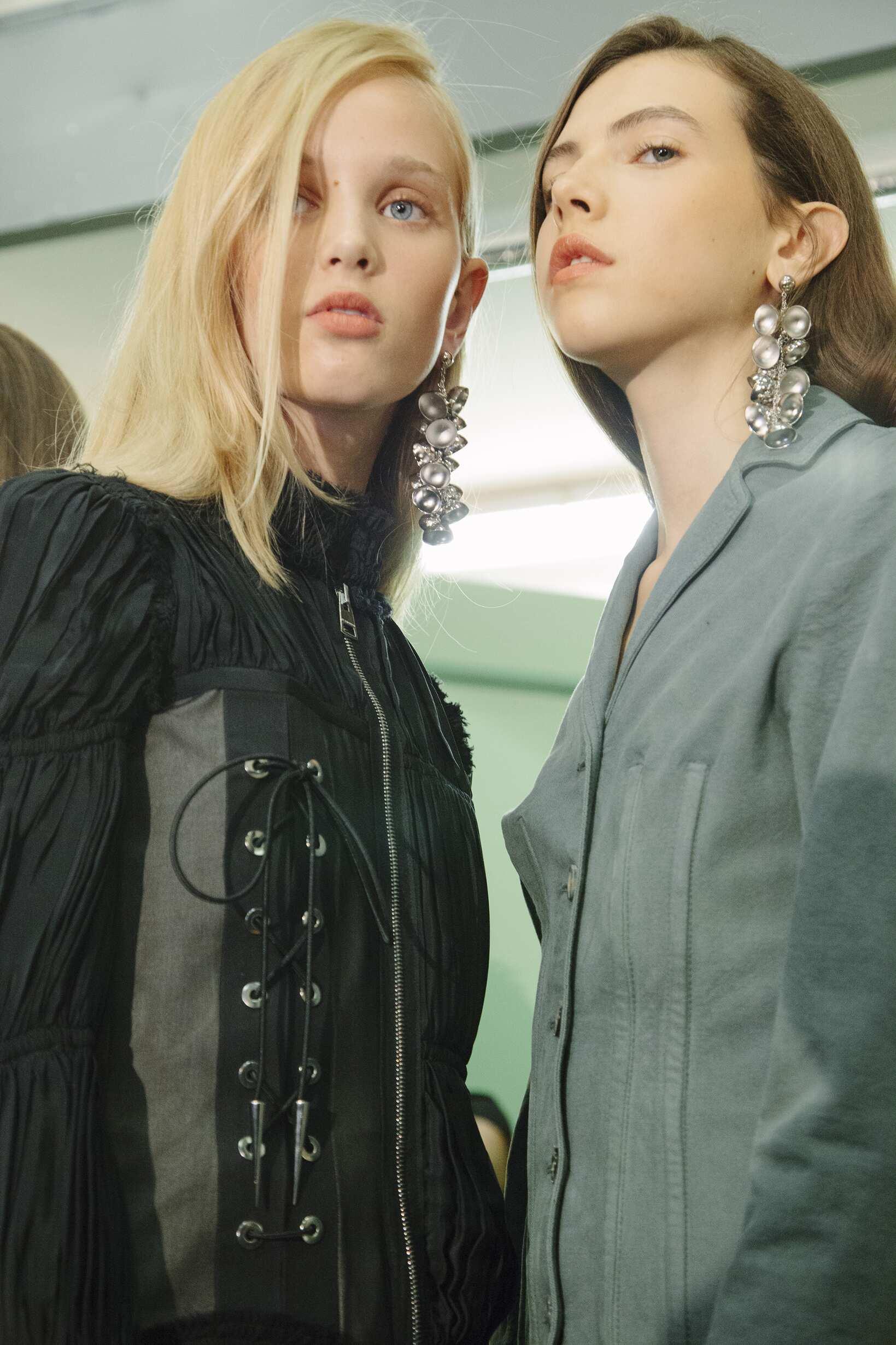 Backstage Woman J.W. Anderson Models
