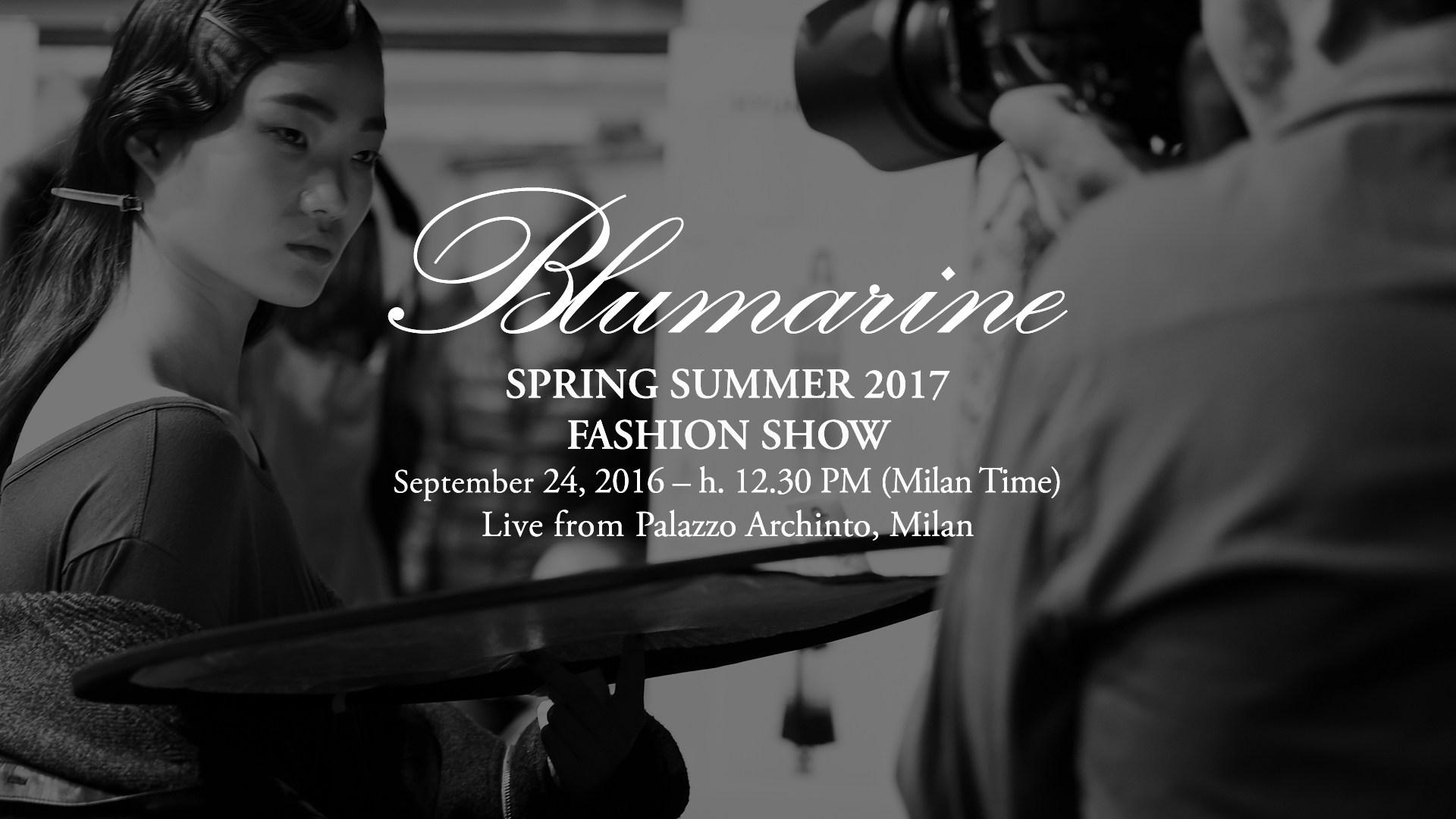 Blumarine Spring Summer 2017 Women's Fashion Show Live Streaming Milan