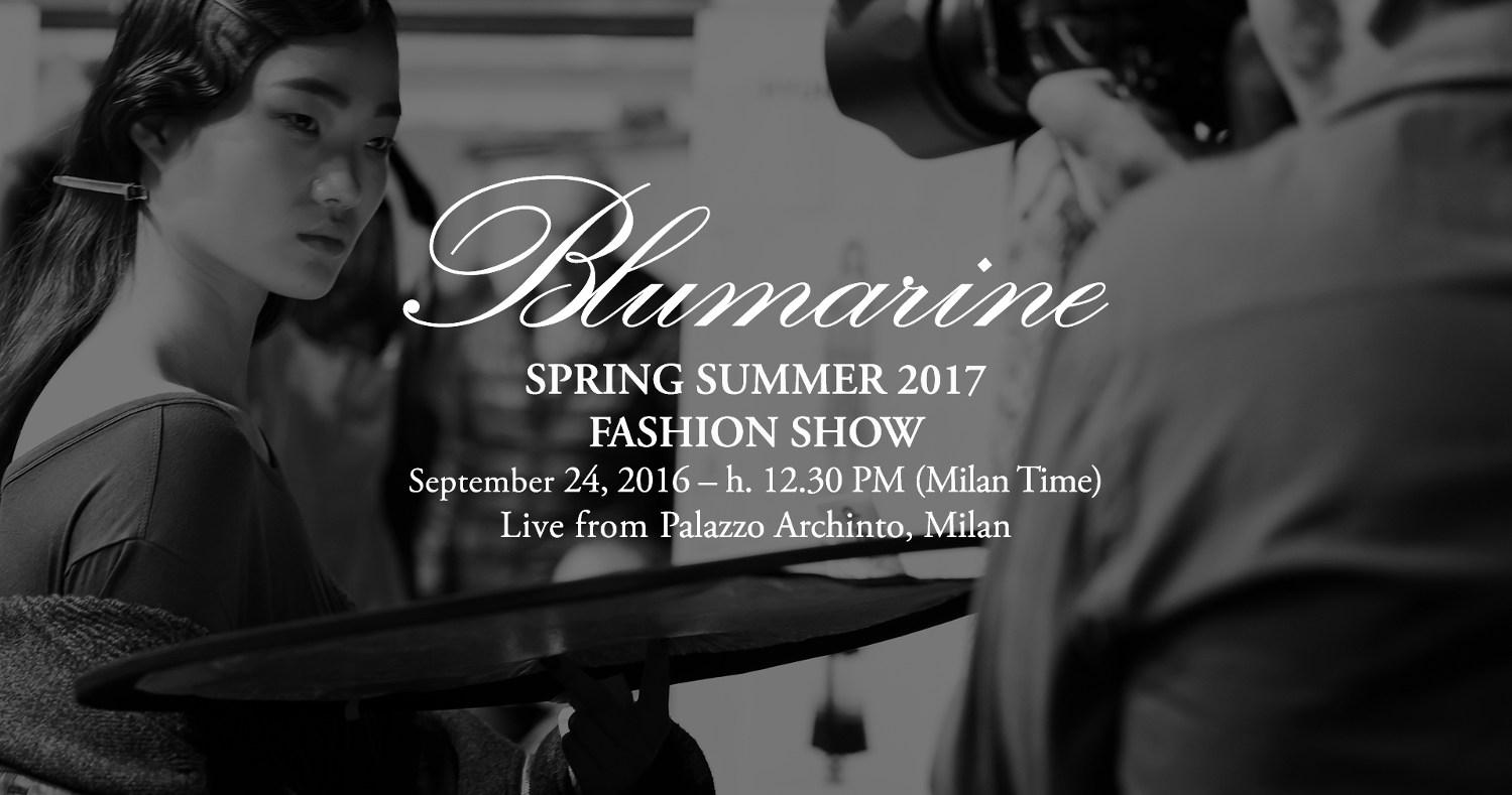 Blumarine Spring Summer 2017 Women's Fashion Show Live Streaming