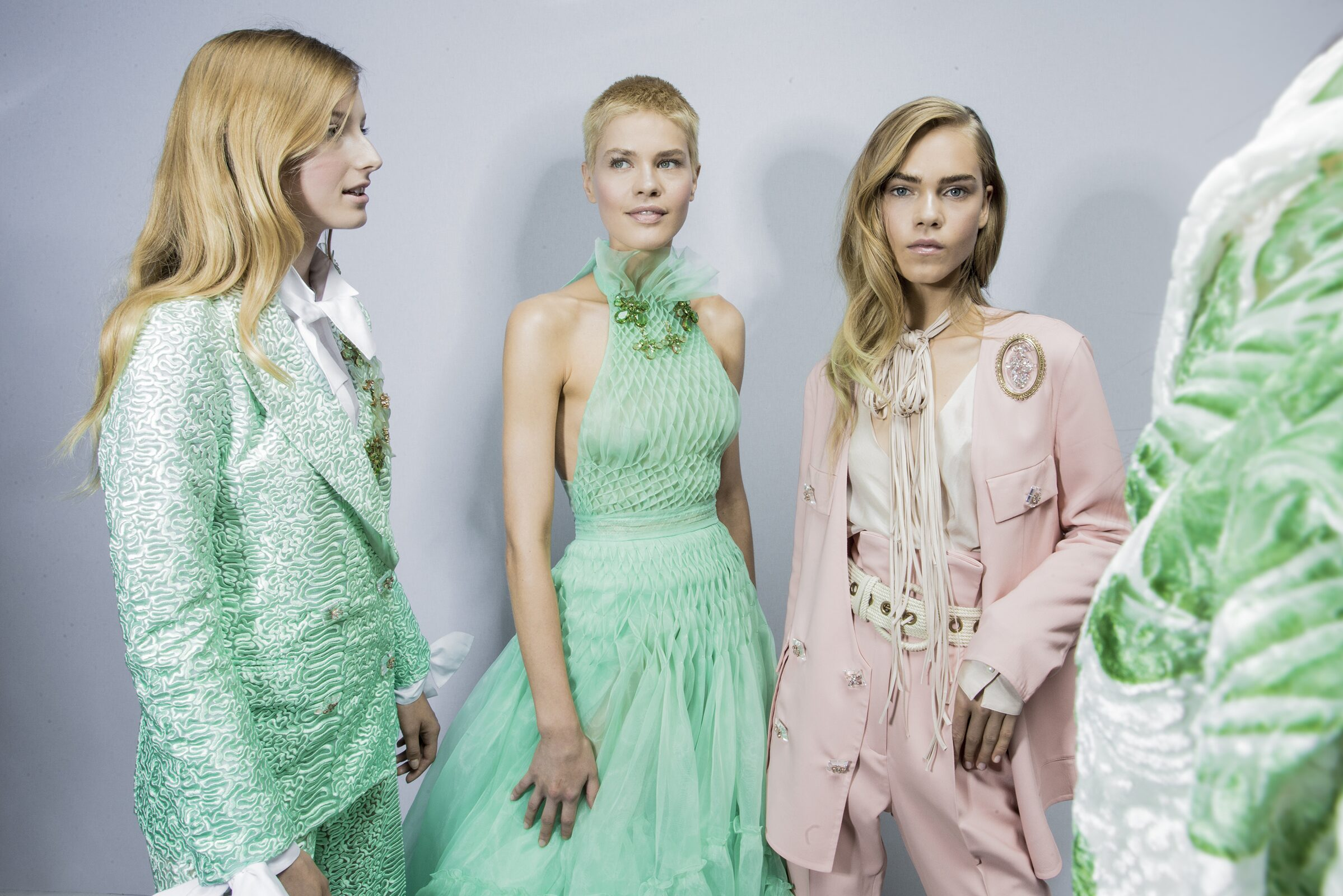 Ermanno Scervino Backstage Fashion Models Womenswear