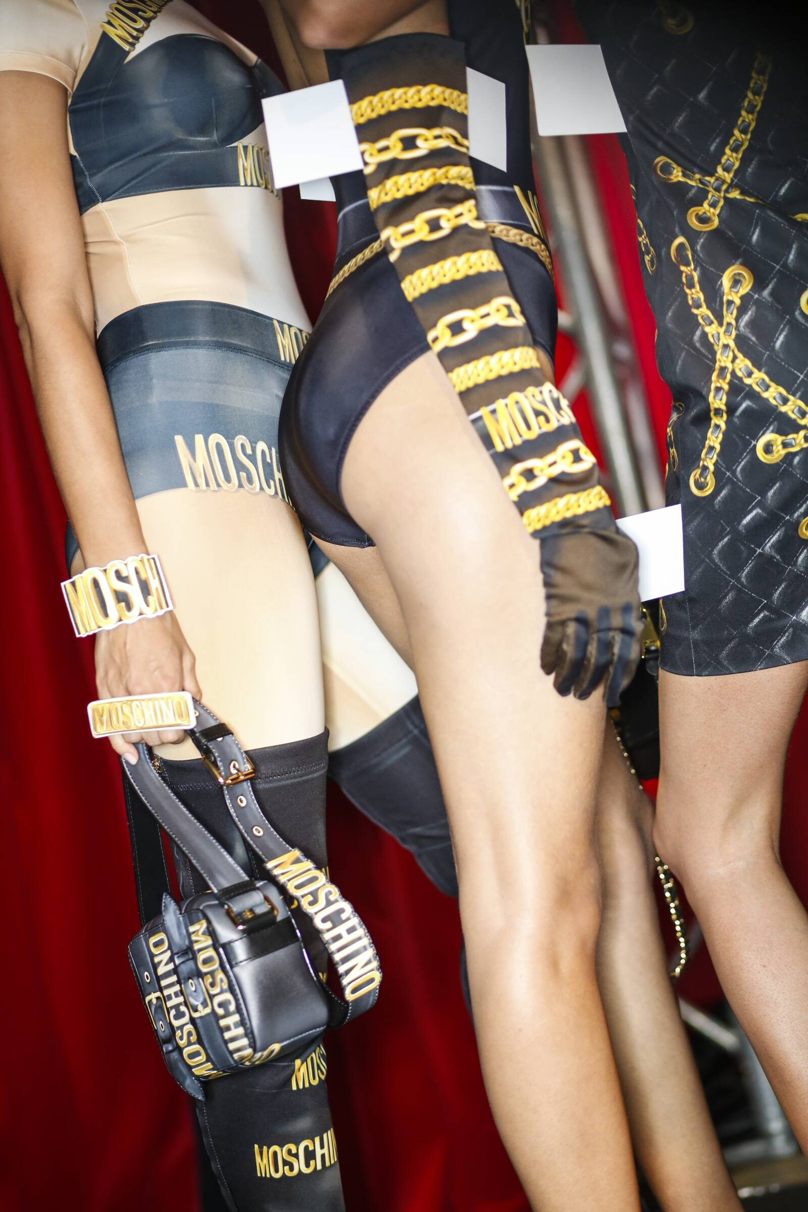 Fashion Details Models Moschino Backstage Milan Fashion Week