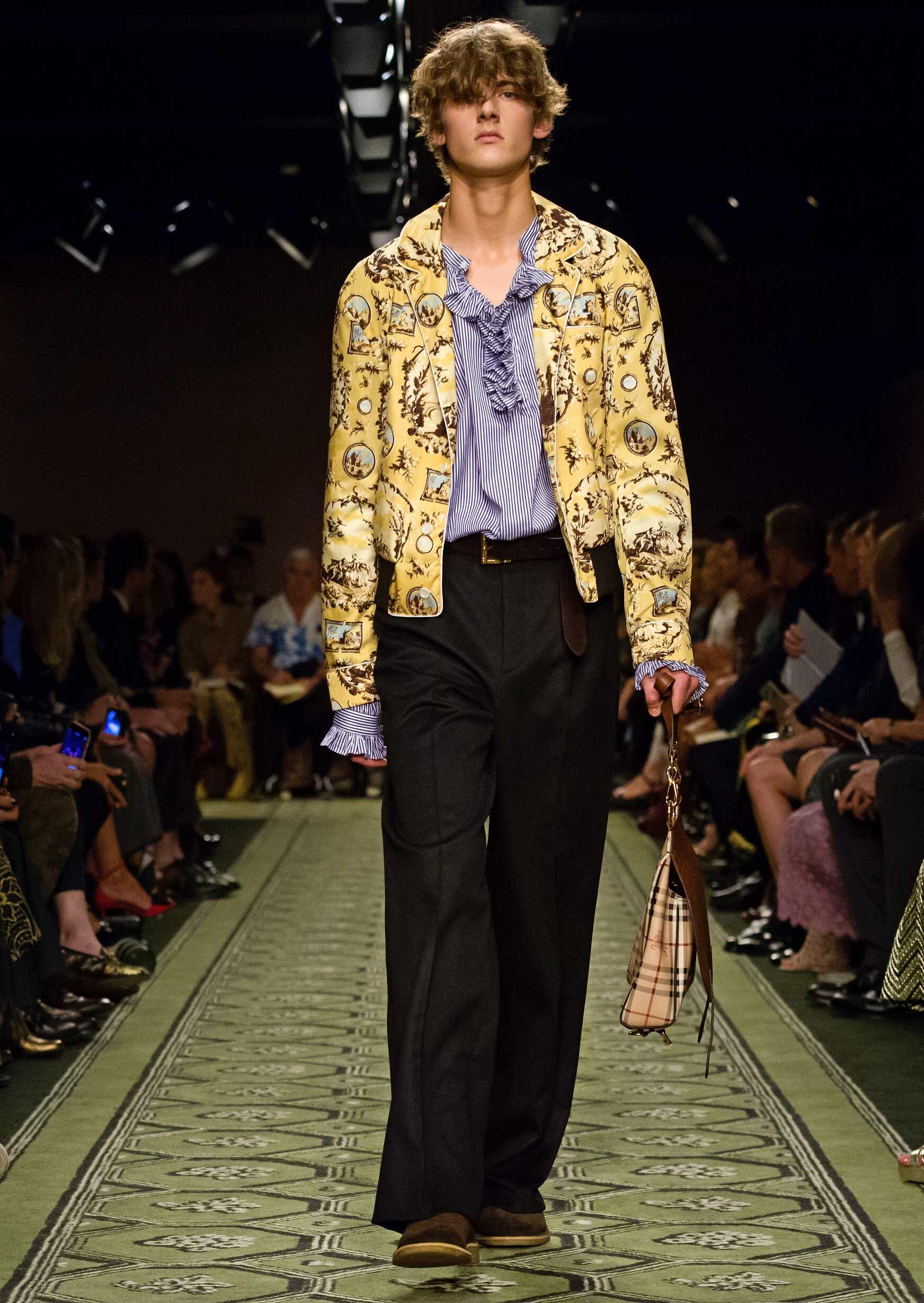 Fashion Man Model Burberry Catwalk London Fashion Week