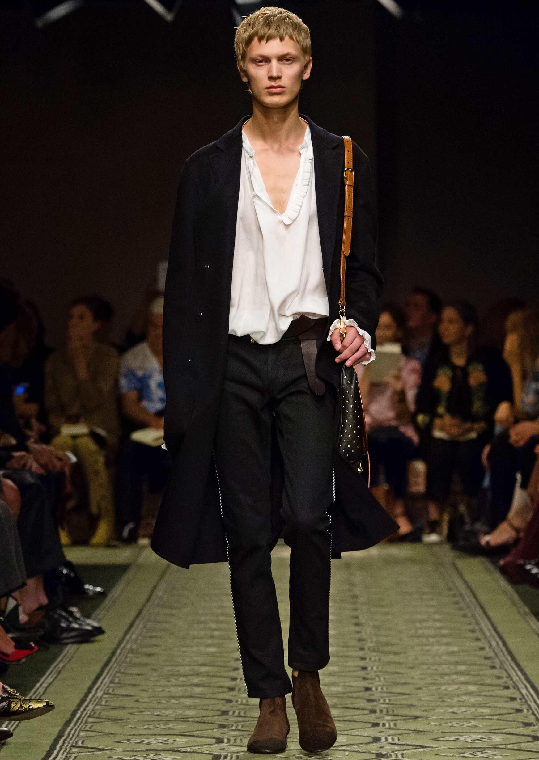Fashion Man Model Burberry Catwalk