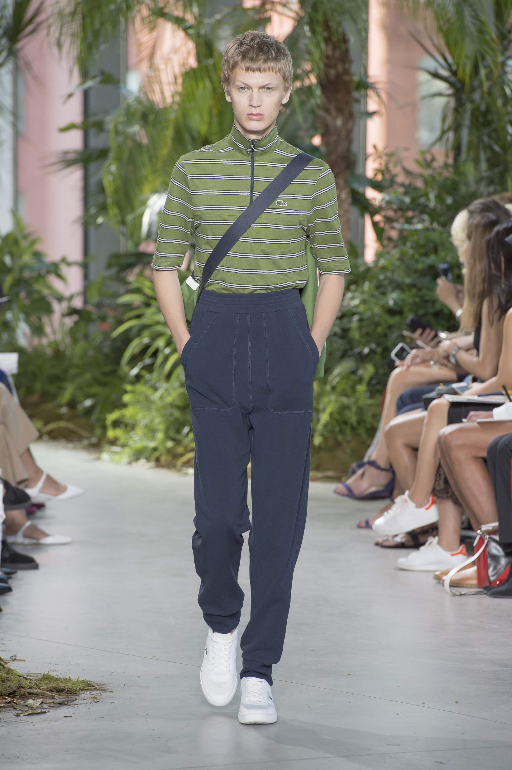 Fashion Man Model Lacoste Catwalk