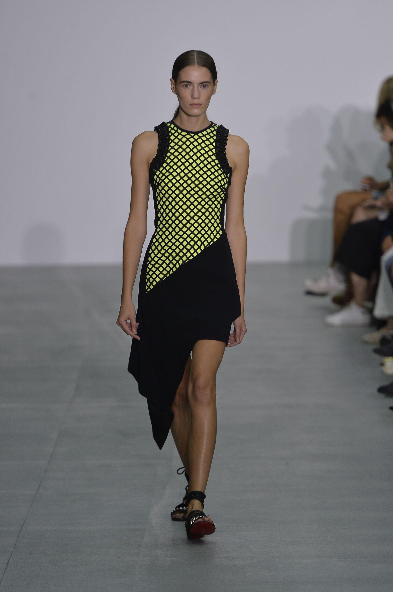 Fashion Model David Koma Catwalk