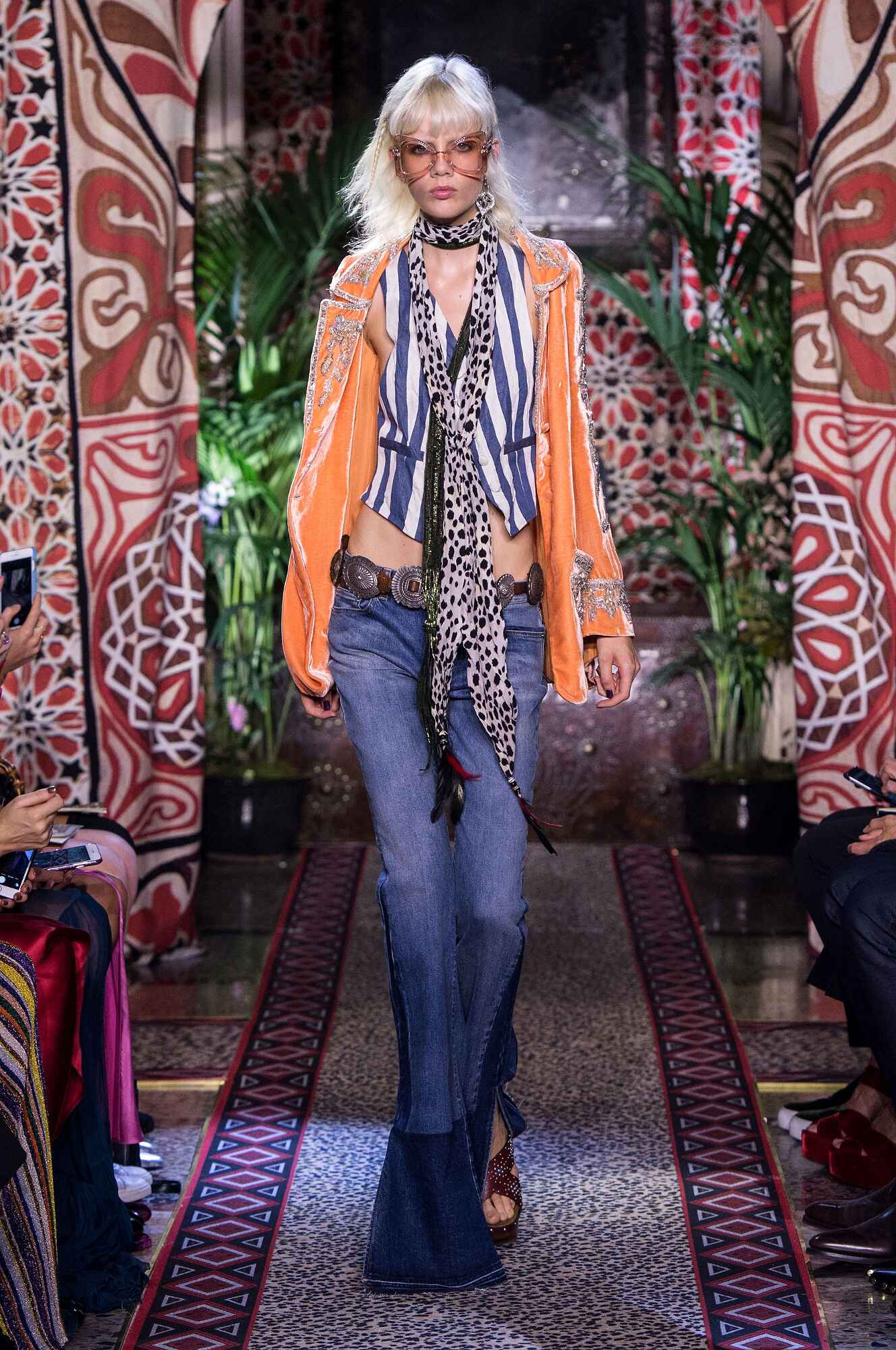 Fashion Model Roberto Cavalli Catwalk