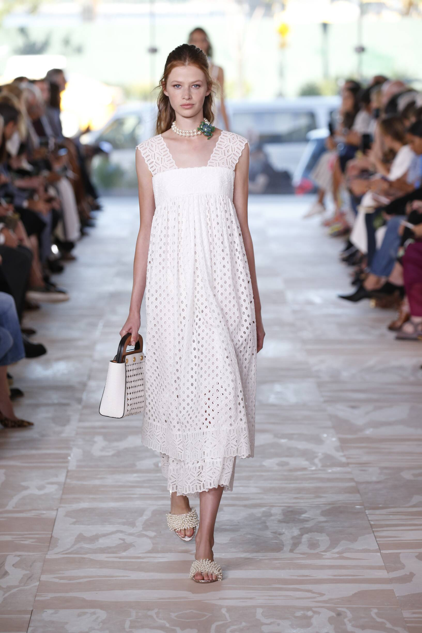 Fashion Model Tory Burch Catwalk