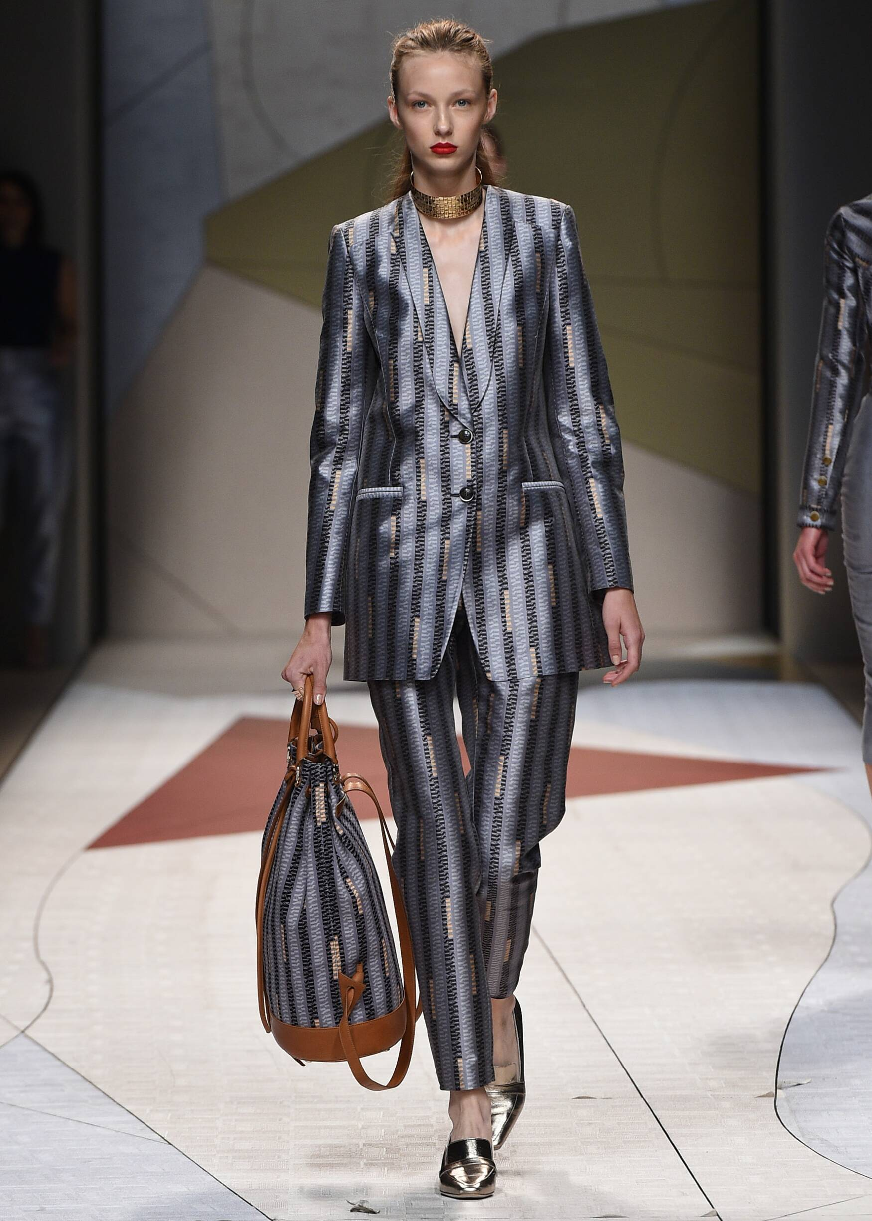 Fashion Model Trussardi Catwalk