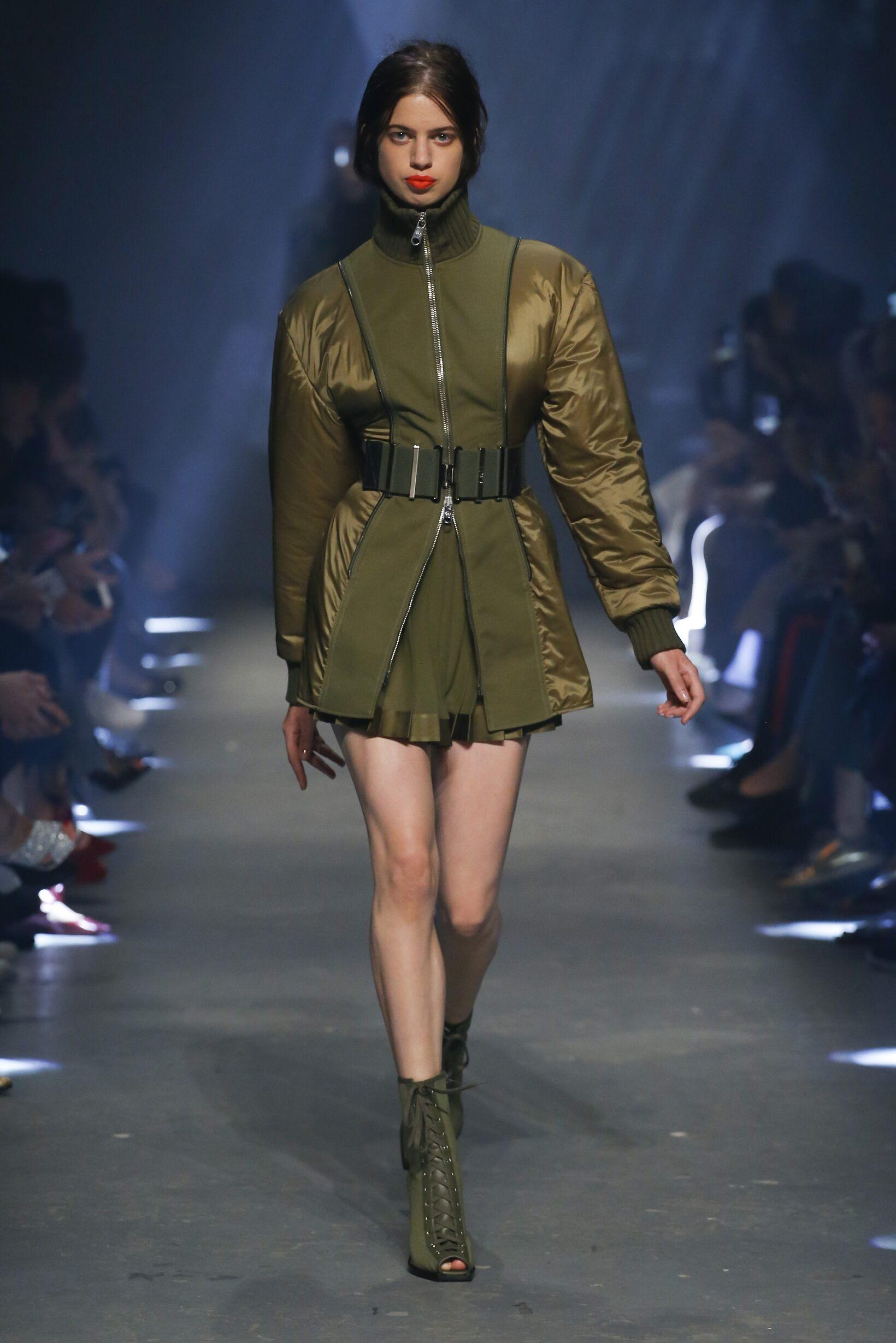 Fashion Model Versus Versace Catwalk