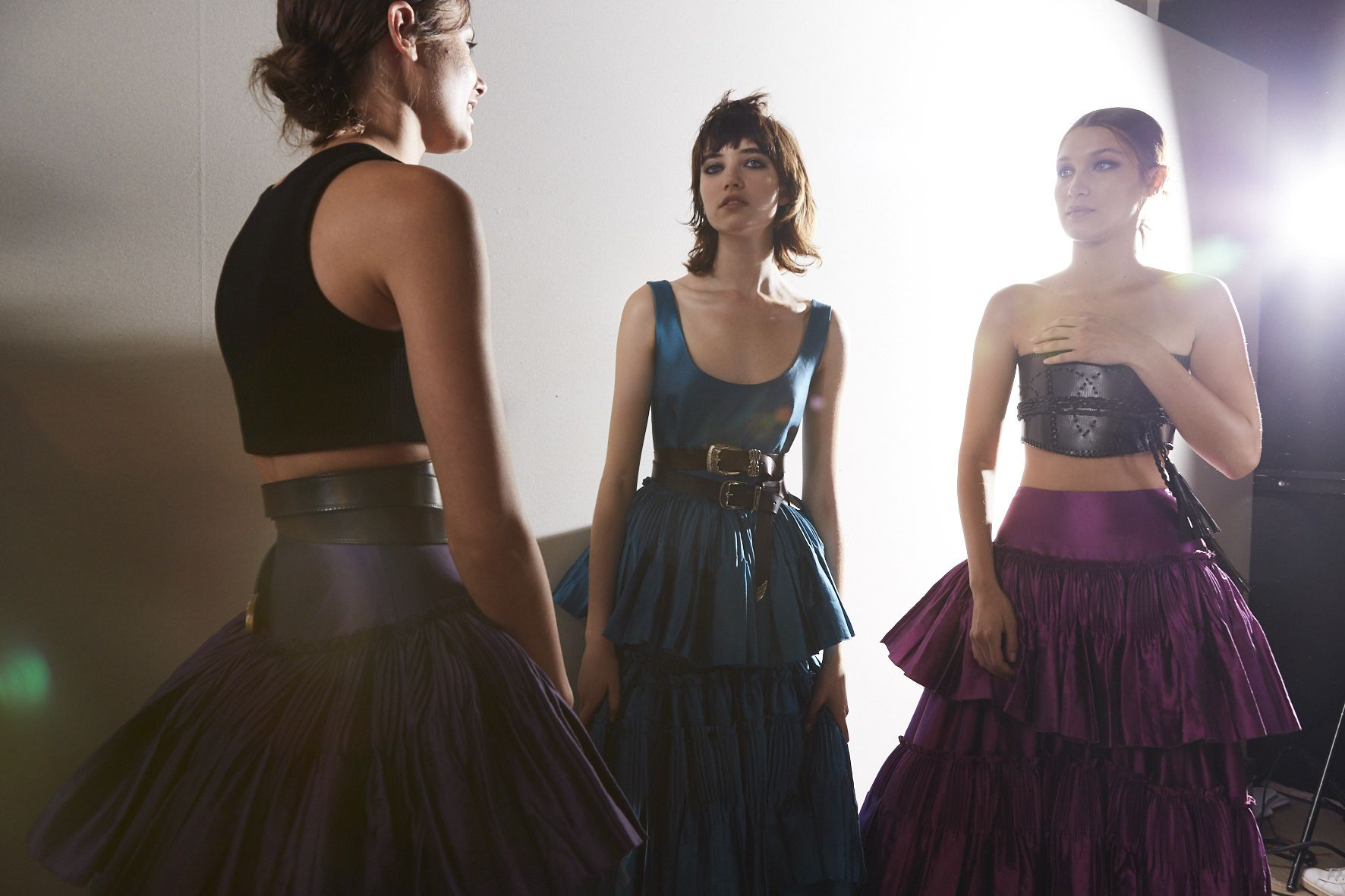 Fashion Models Alberta Ferretti Womenswear Backstage