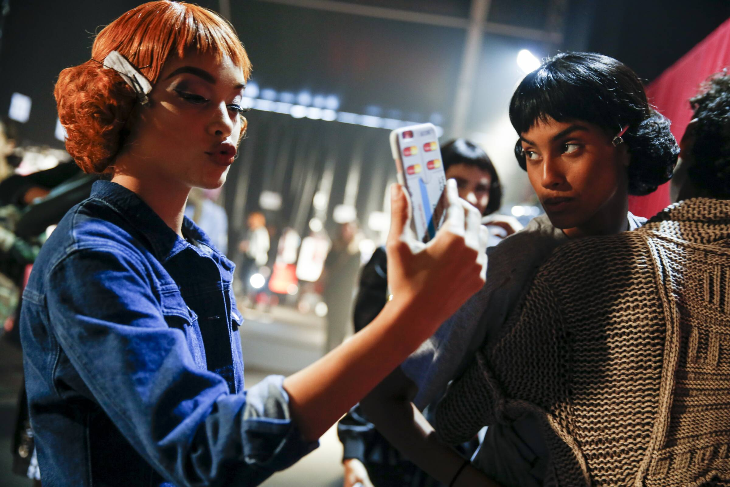 Fashion Models Moschino Womenswear Backstage