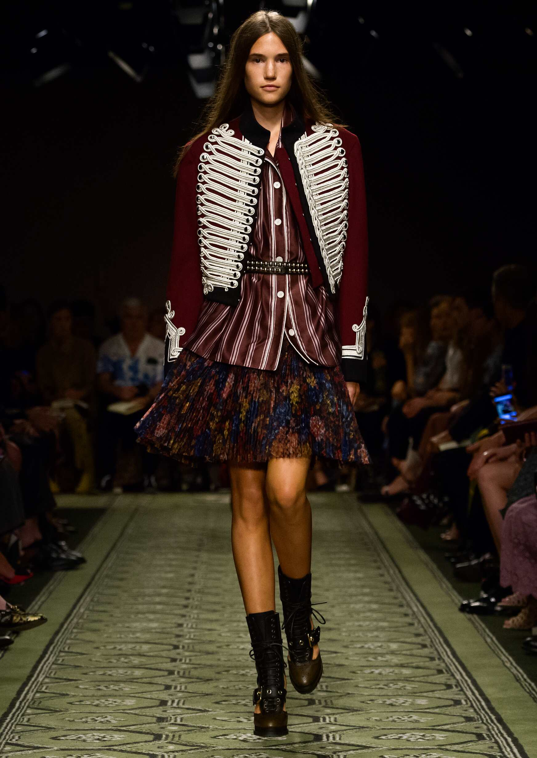Fashion Woman Model Burberry Catwalk